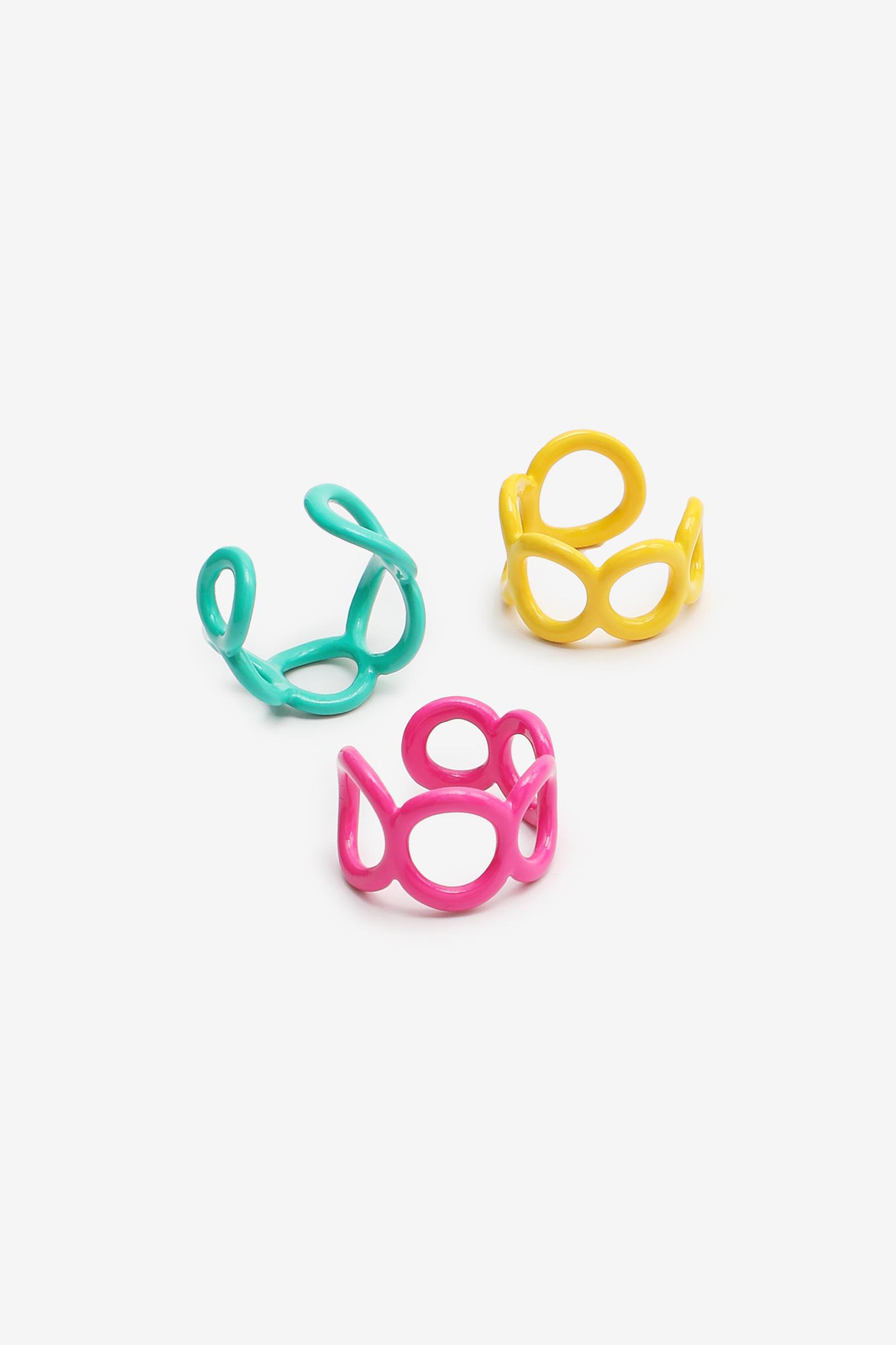 Fun Chain-like Ring Set