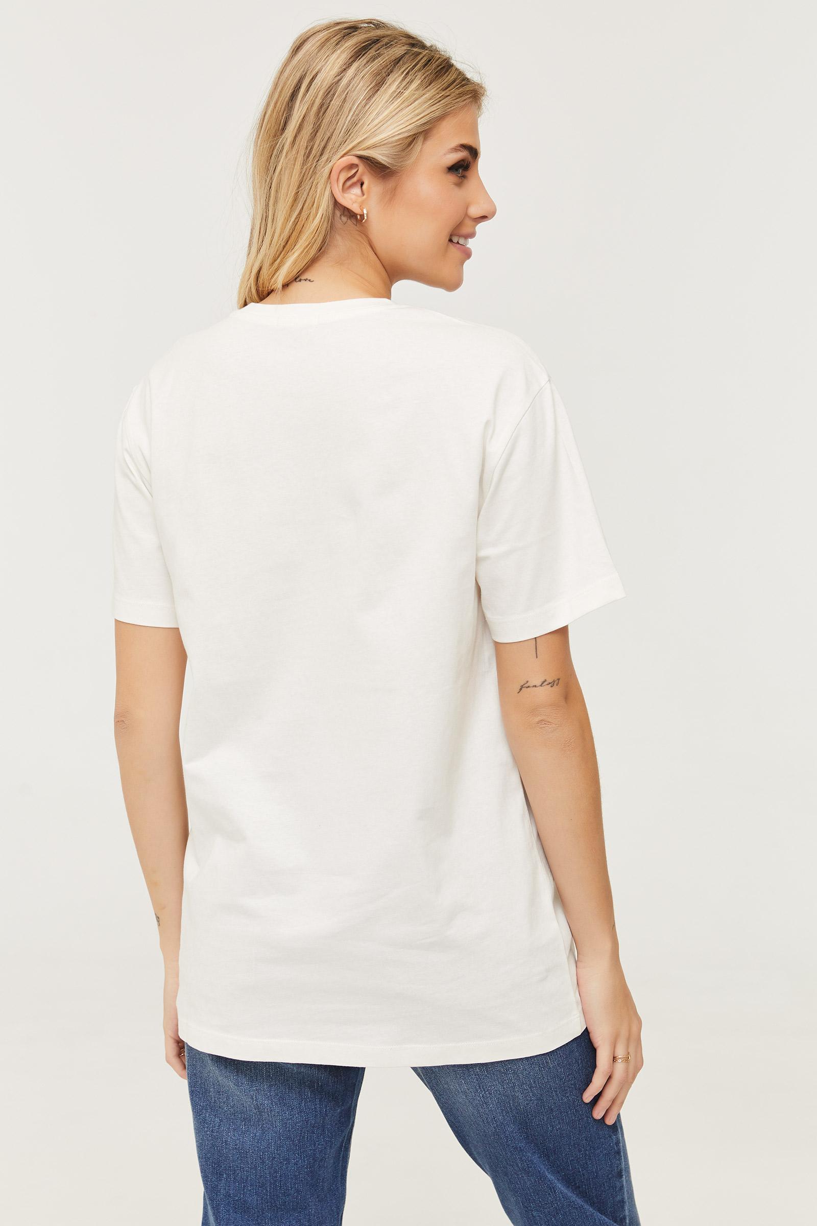 T-shirt en coton fleuri