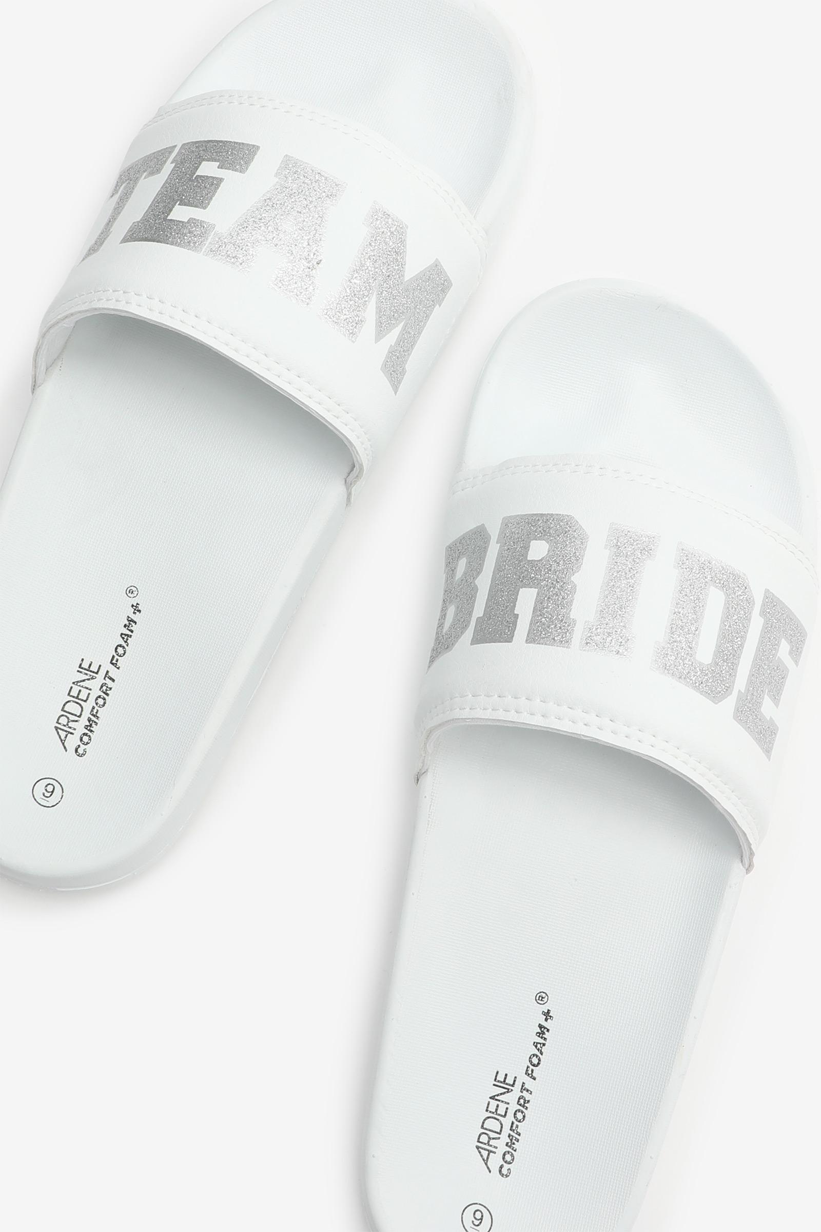 Bridesmaid Glitter Slides