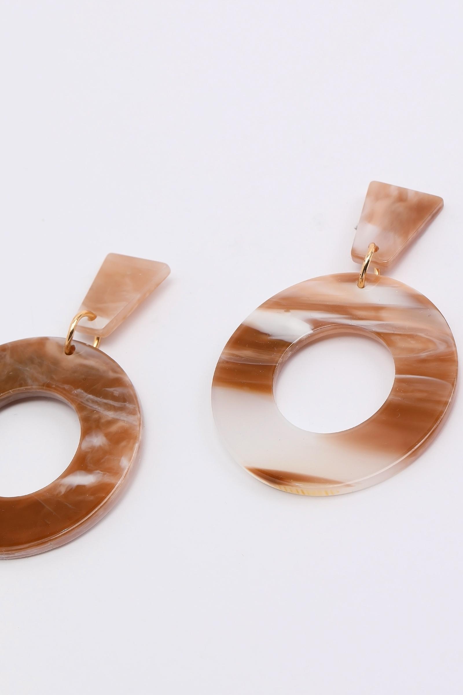 Large Resin Hoop Earrings