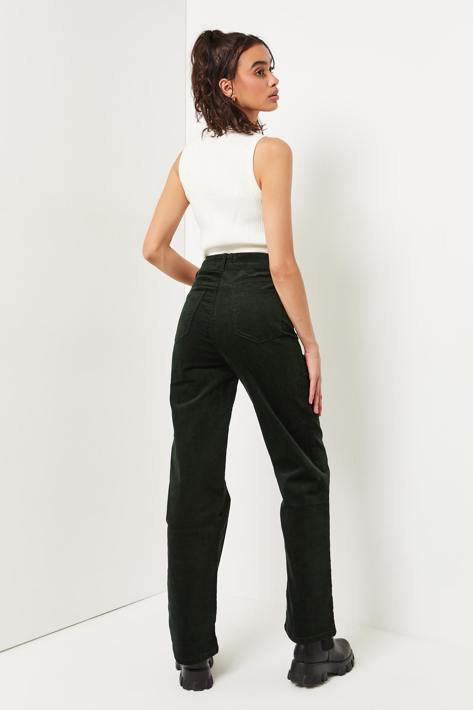Wide Leg Corduroy Pants