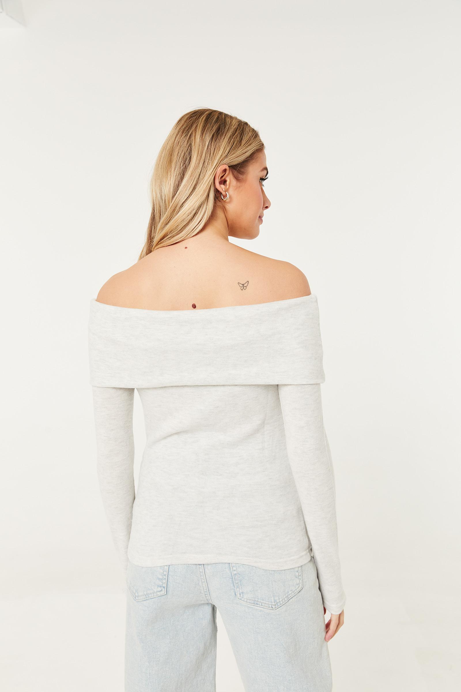 Brushed Off Shoulder Sweater