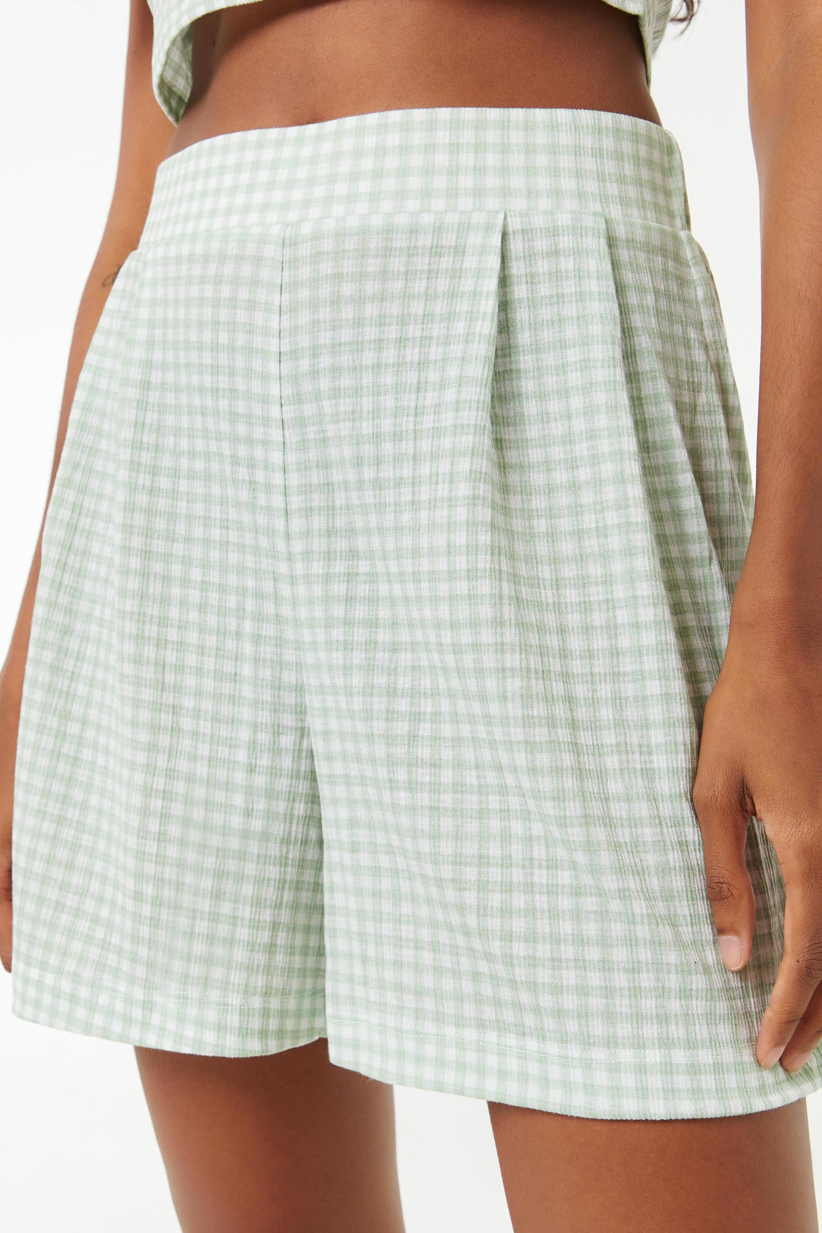 Gingham Pull On Shorts