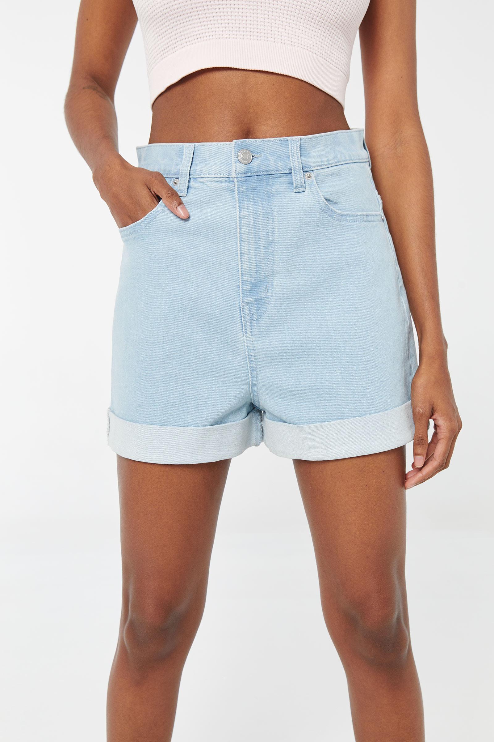High Rise Jean Mom Shorts