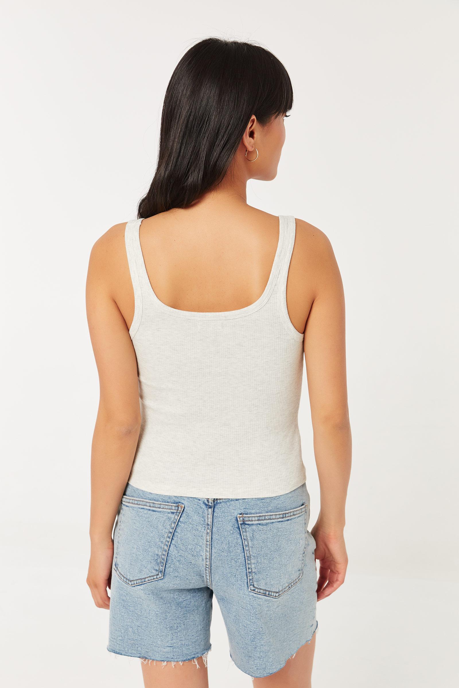 Basic Ribbed Cotton Tank Top
