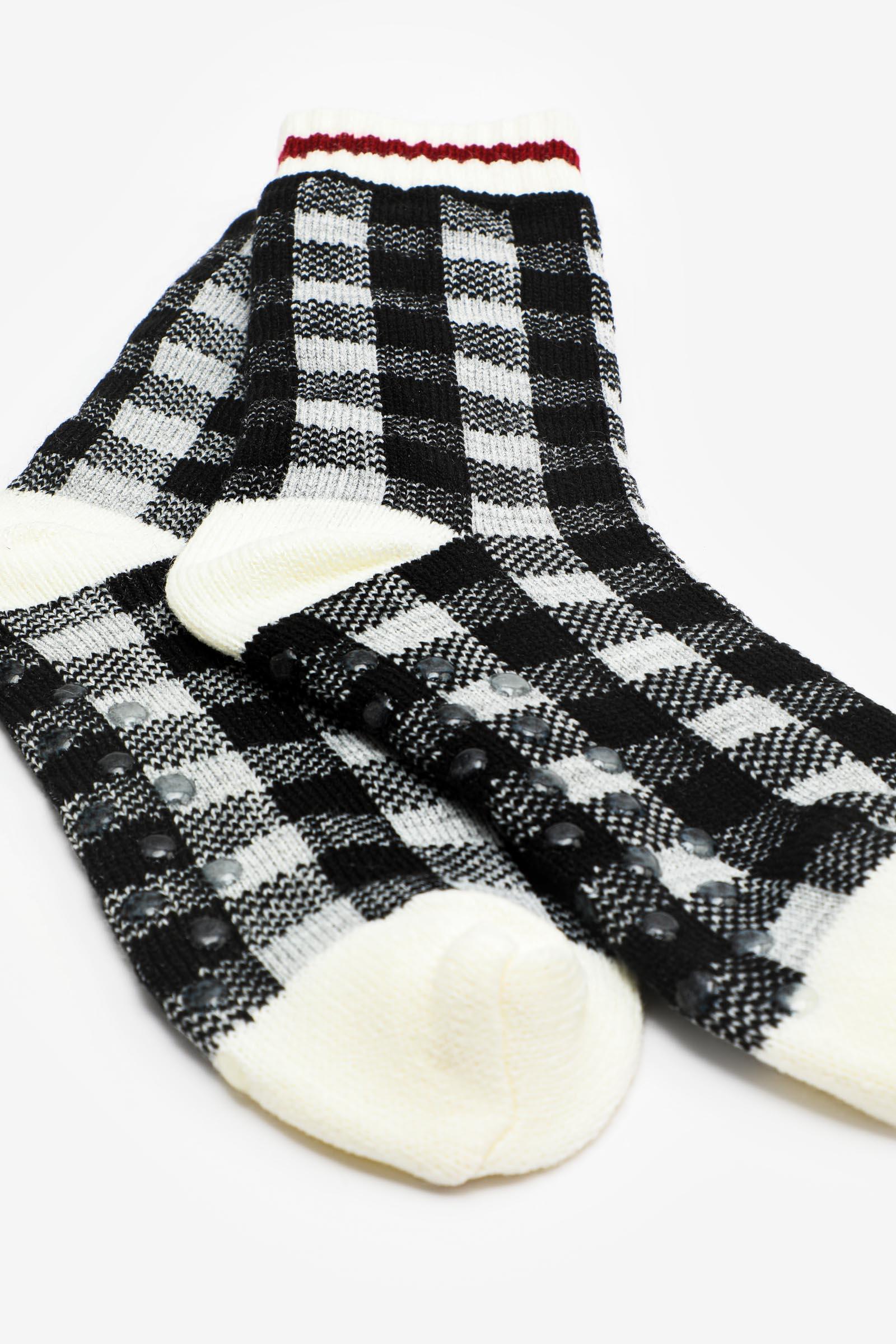 Plaid Slipper Socks