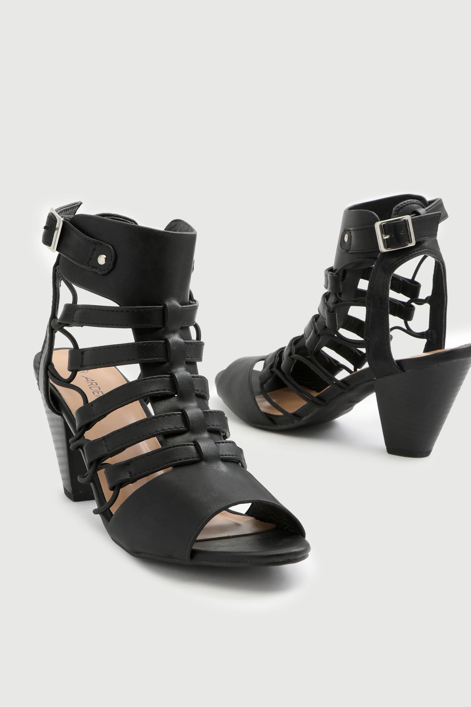 Tapered Heel Gladiator Sandals