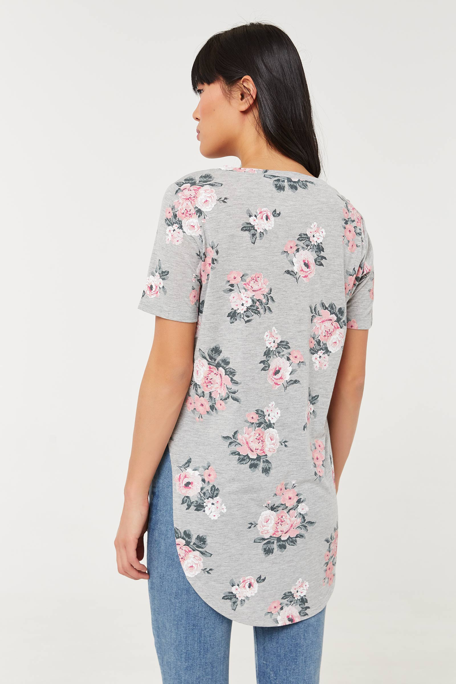 Floral Long Tunic Tee