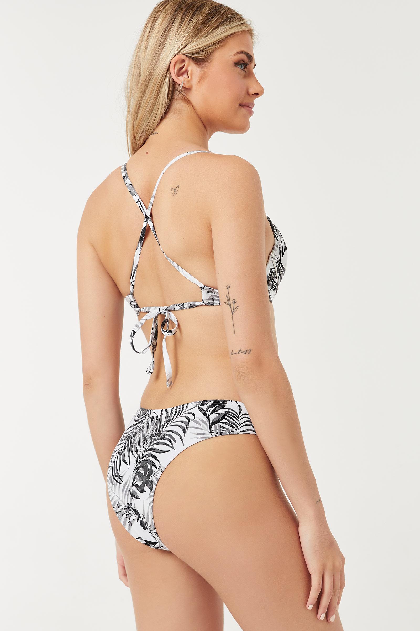 Tropical High Leg Bare Bikini Bottom