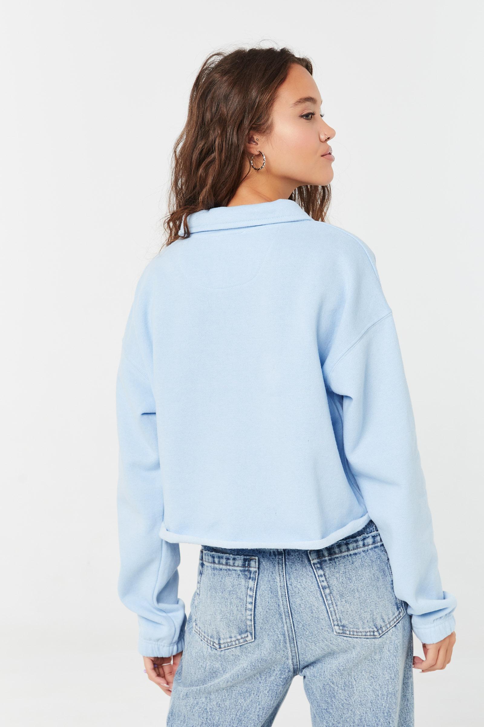 Cropped Polo Sweatshirt