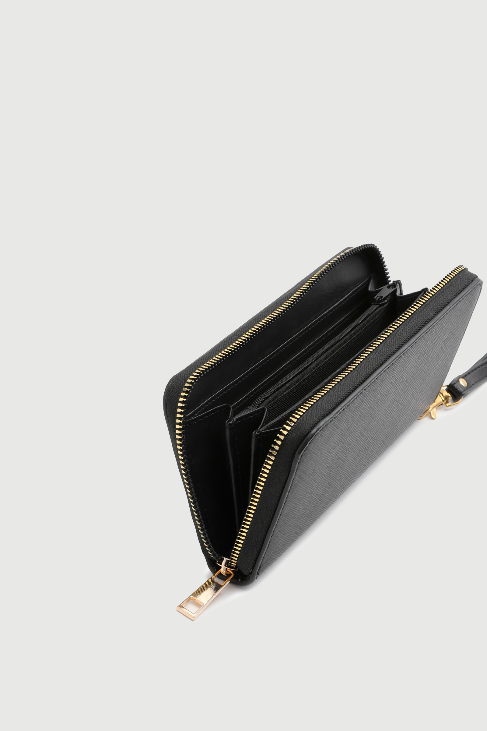 Faux Leather Accordion Wallet