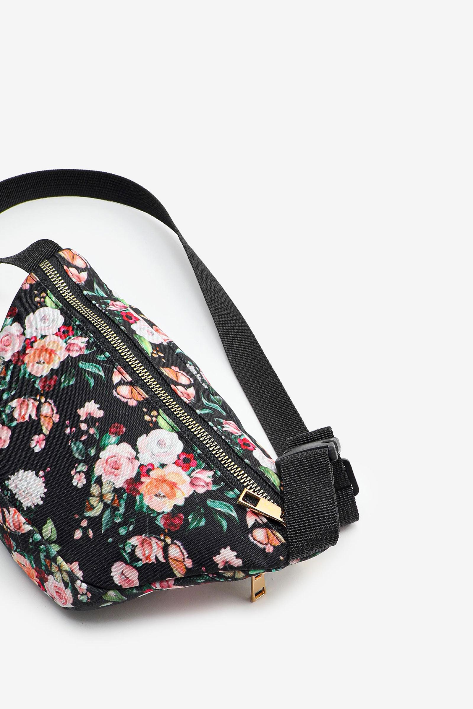 Floral Double-Zipper Fanny Pack
