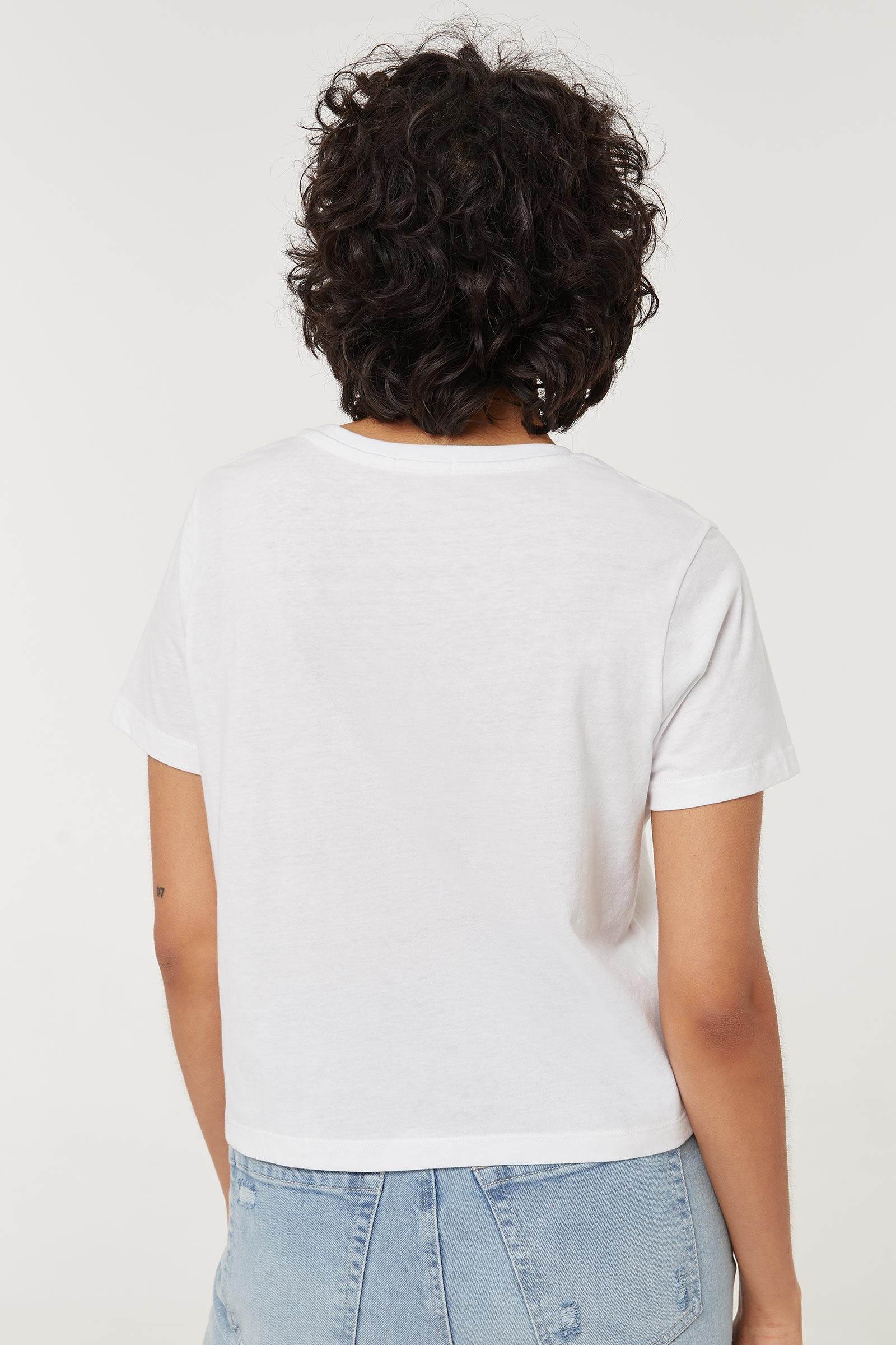 T-shirt carré fleurs sauvages