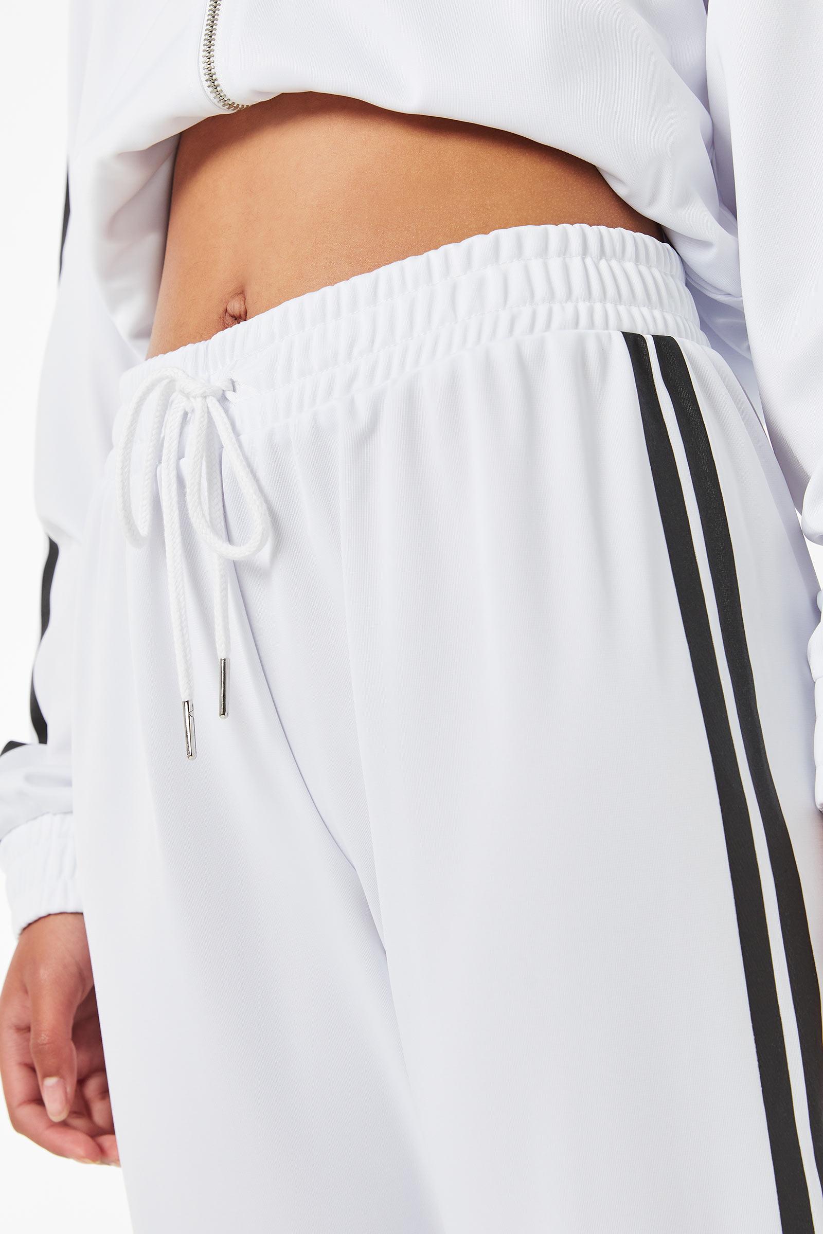 Pantalon de survêtement à bandes contrastantes