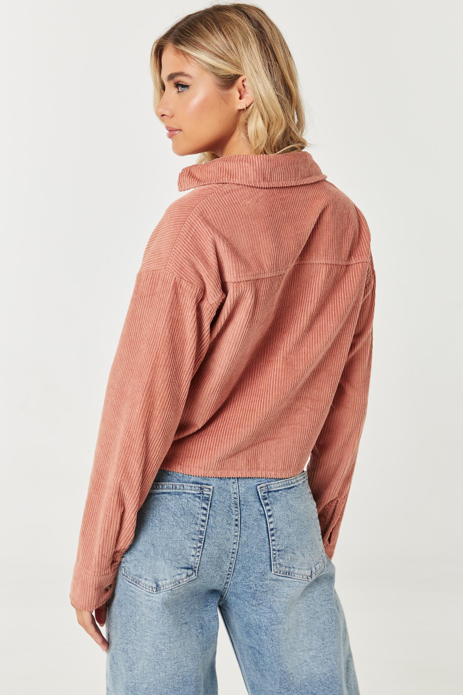 Corduroy Boxy Shirt