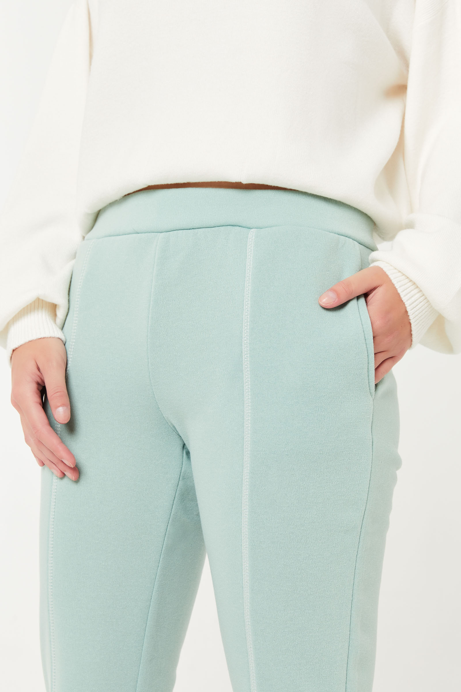 Joggers with Contrast Stitching