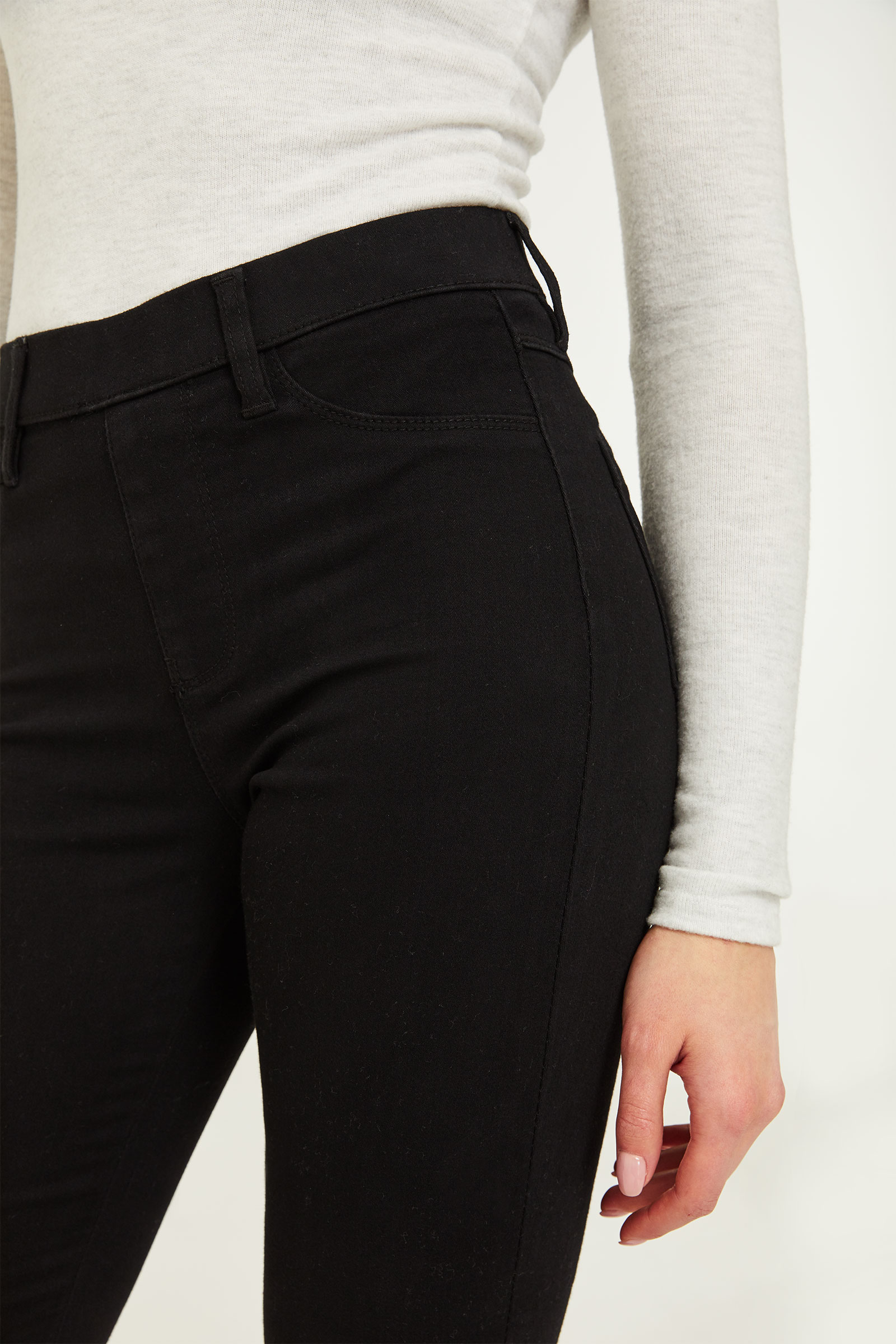 High Rise Slip-on Jeans