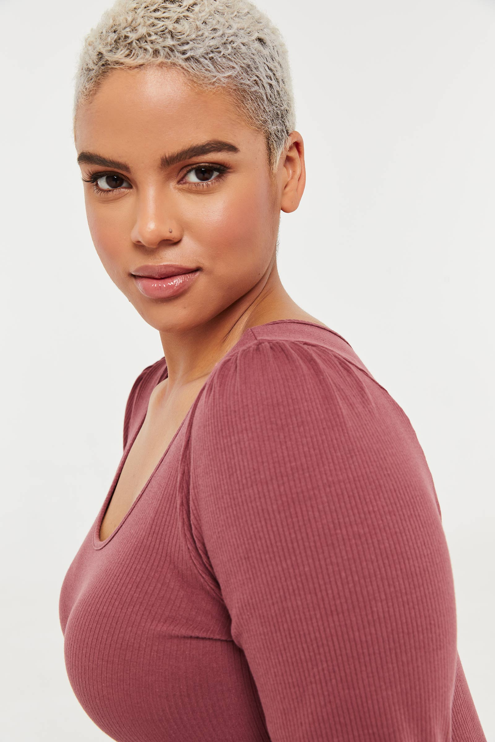 Plus Size Puff Sleeve Top