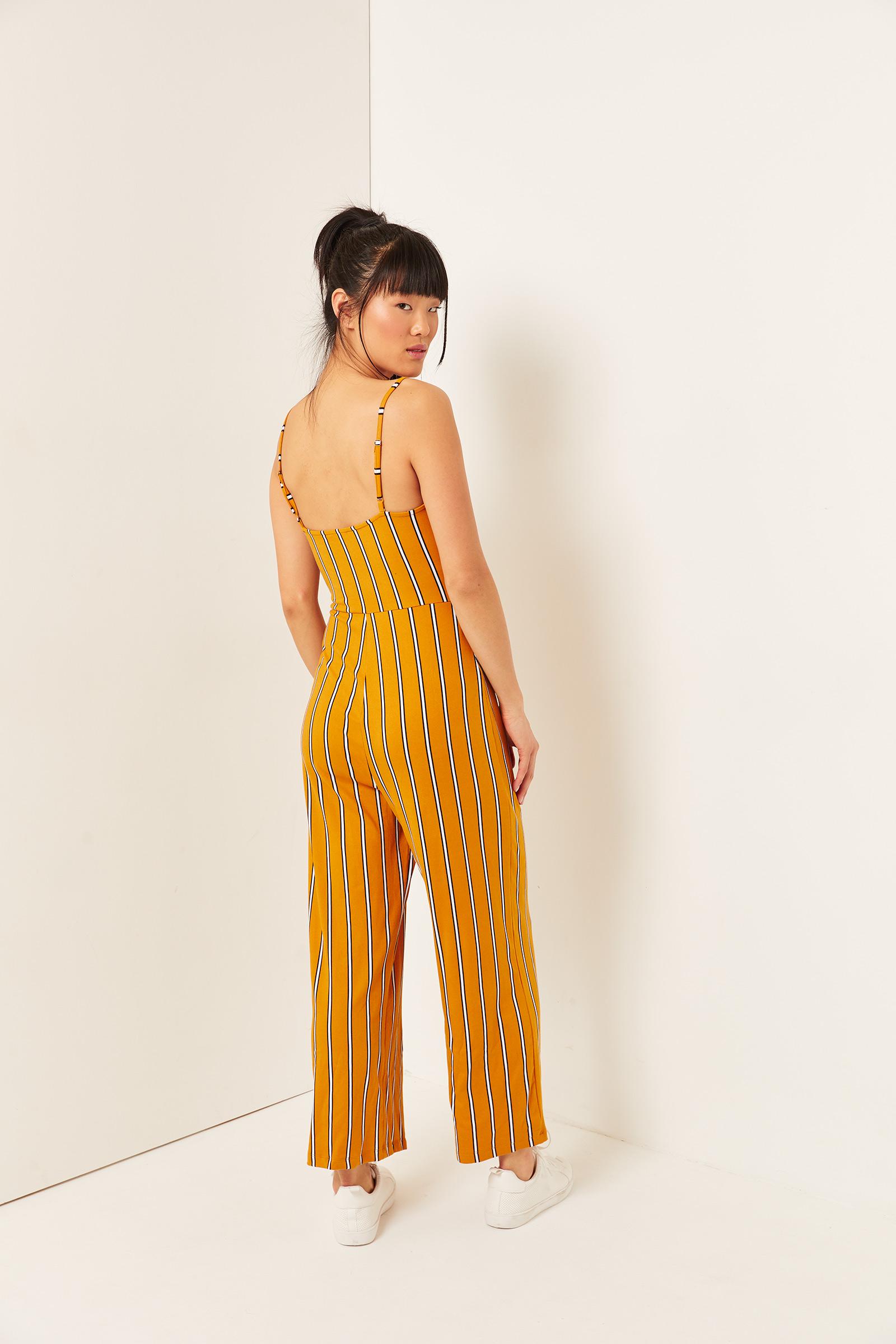 Basic Soft Striped Jumpsuit