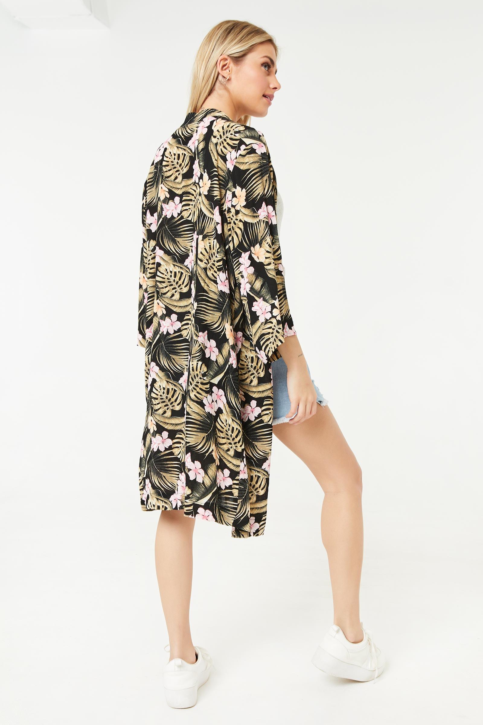 Kimono long fleuri