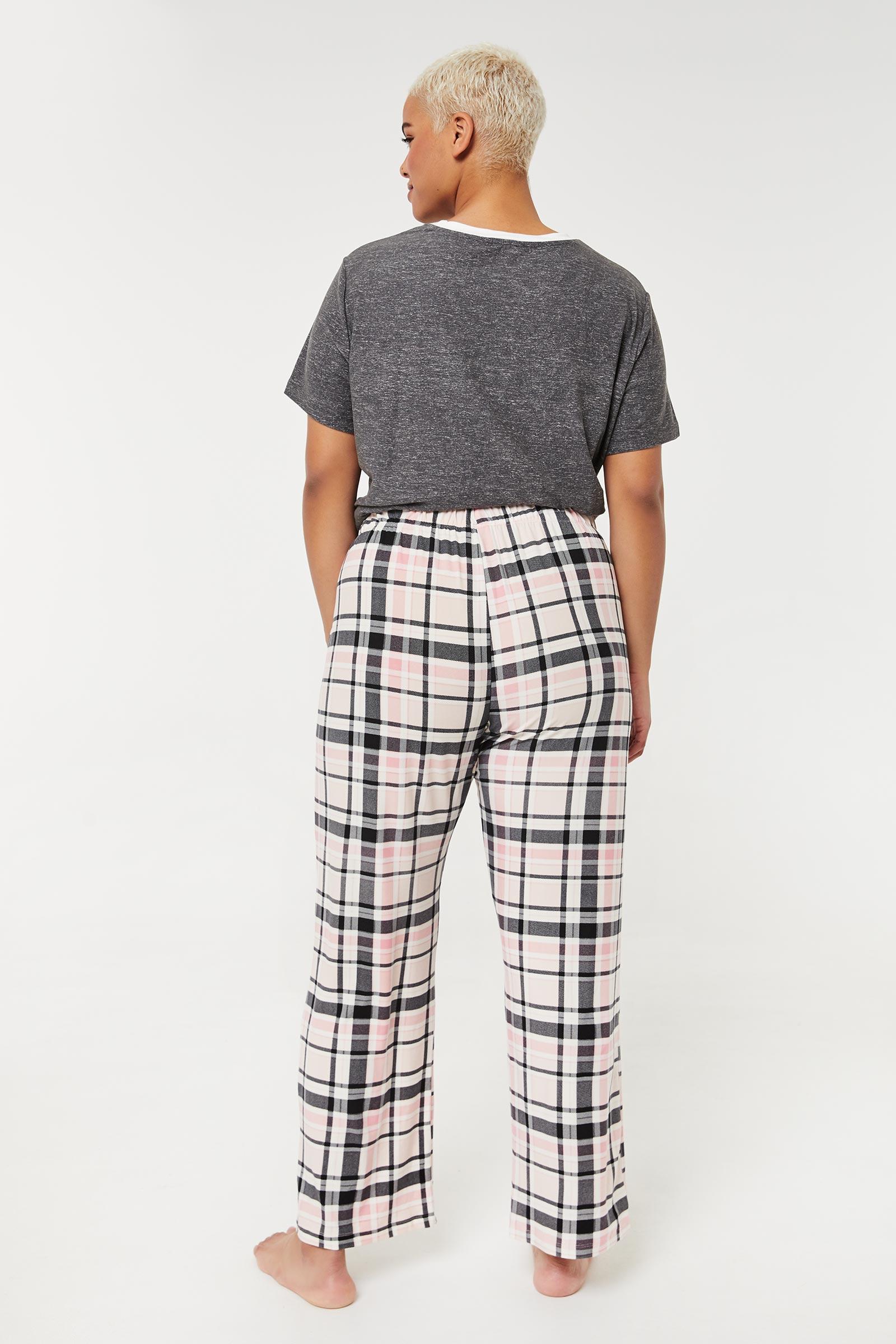 Plus Size Plaid PJ Pants
