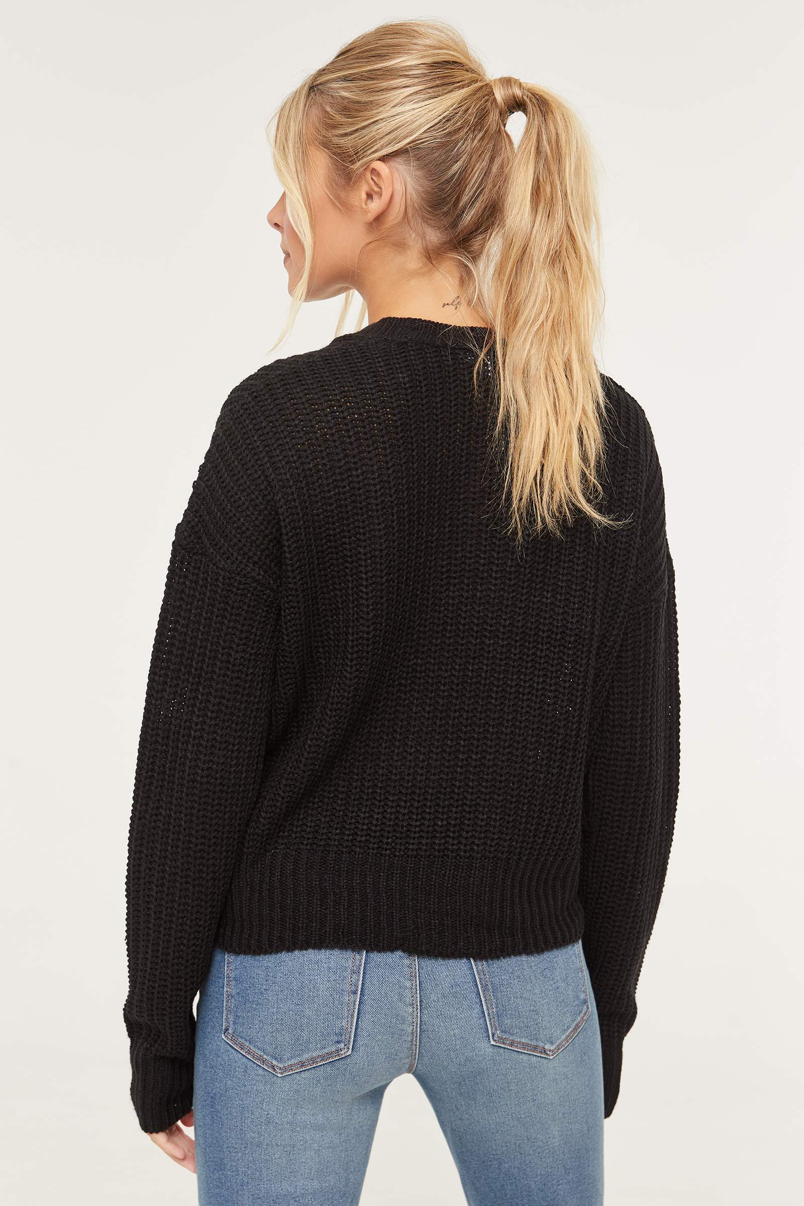 Chandail en tricot torsadé Basic