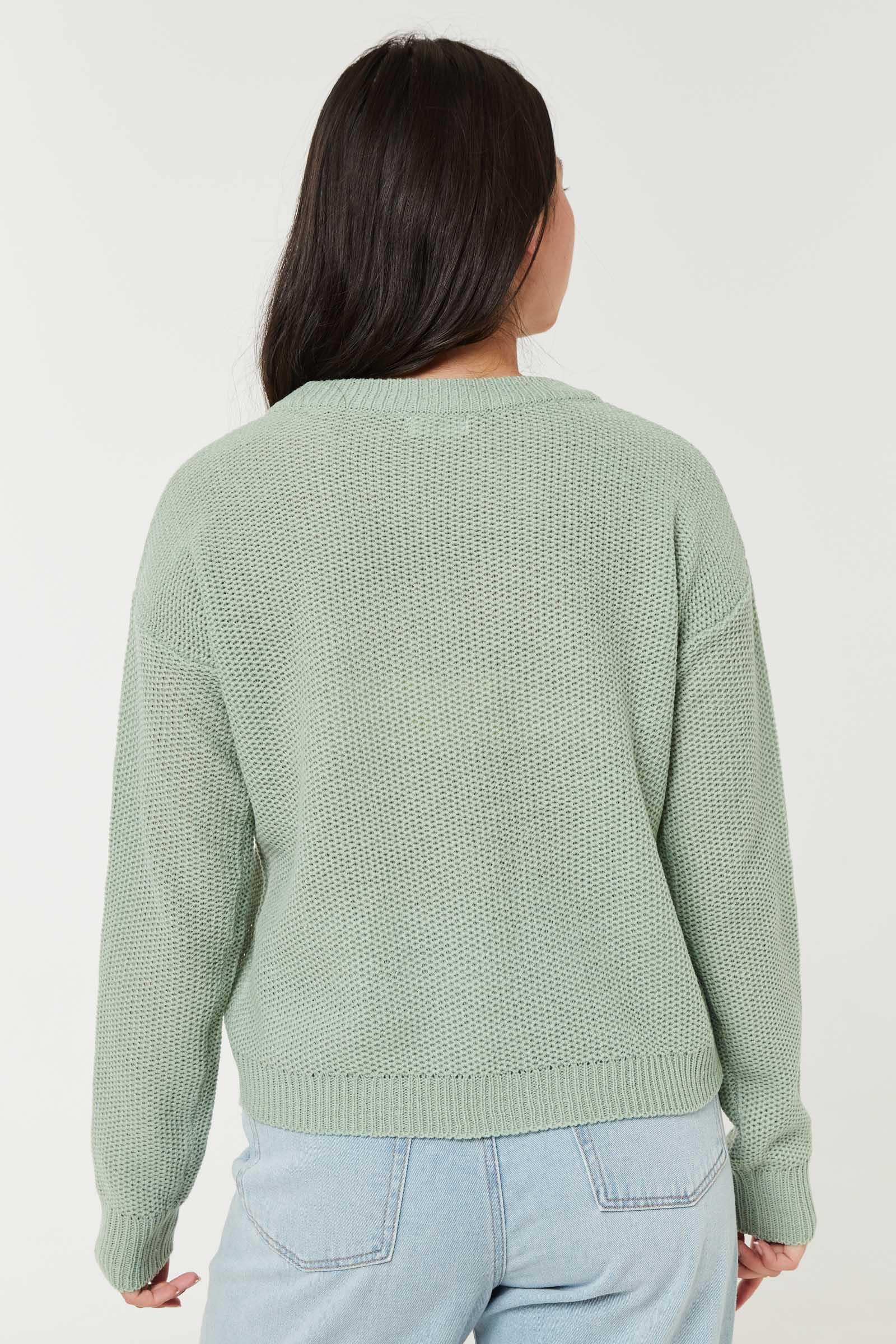 Honeycomb Crew Neck Sweater