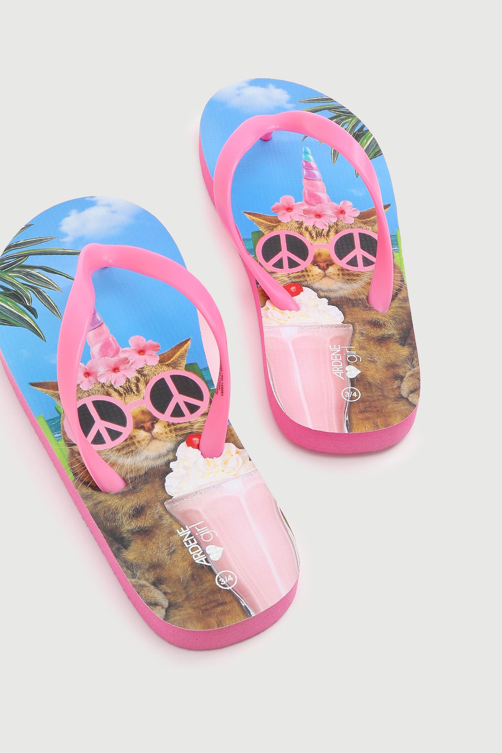 Cat Flip-Flops for Kids
