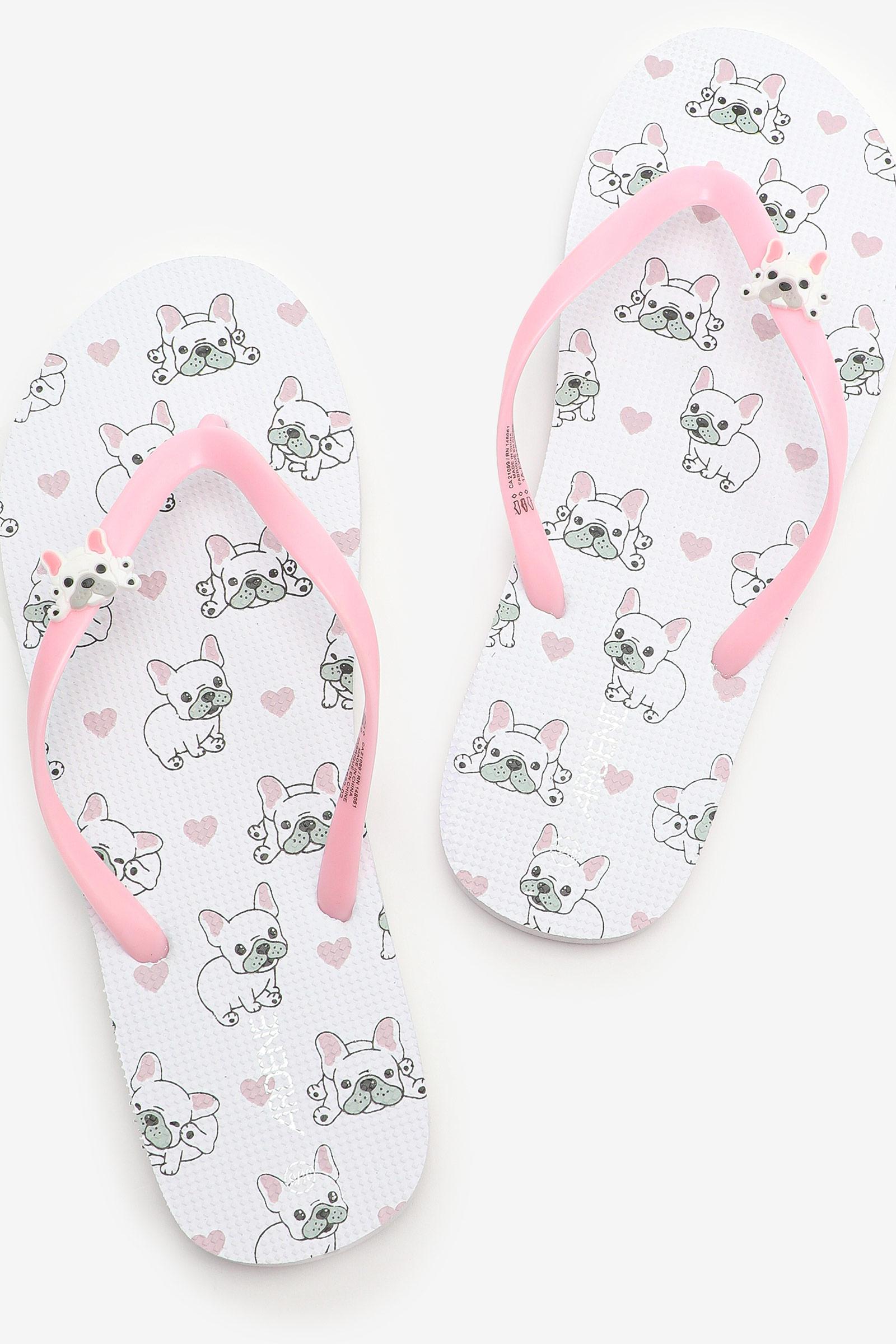 French Bulldog Flip-Flops