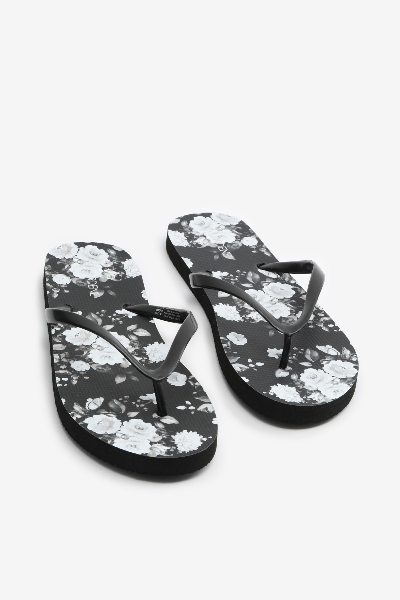 Floral Foam Flip-Flops