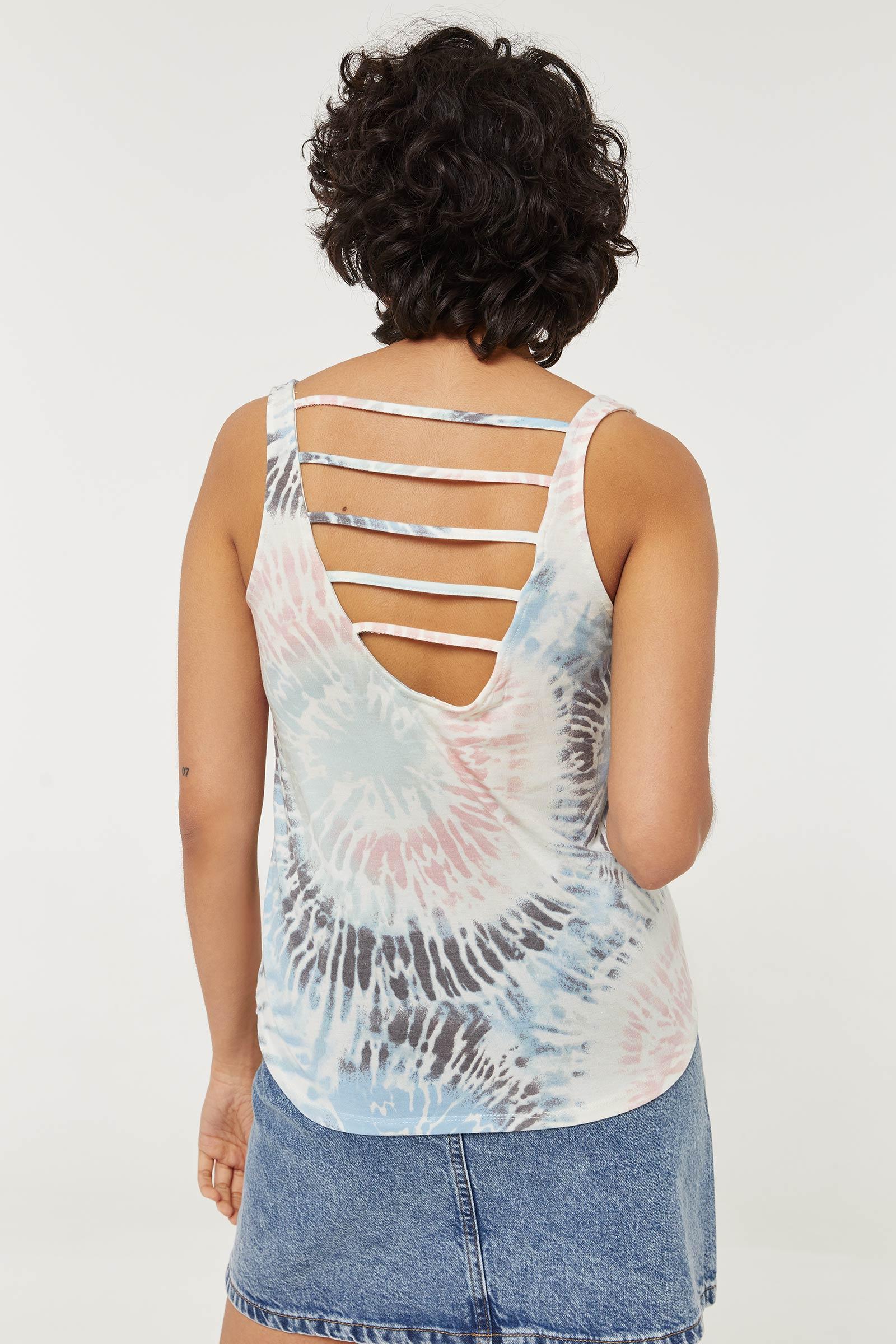 Cami longue tie-dye avec dos à bretelles