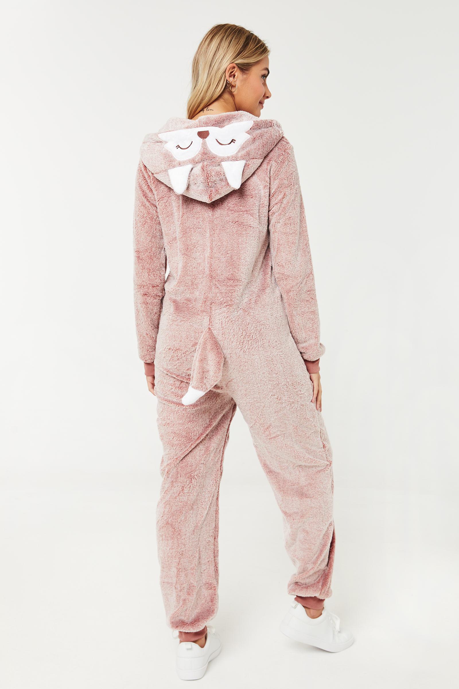Costume une-pièce de renard