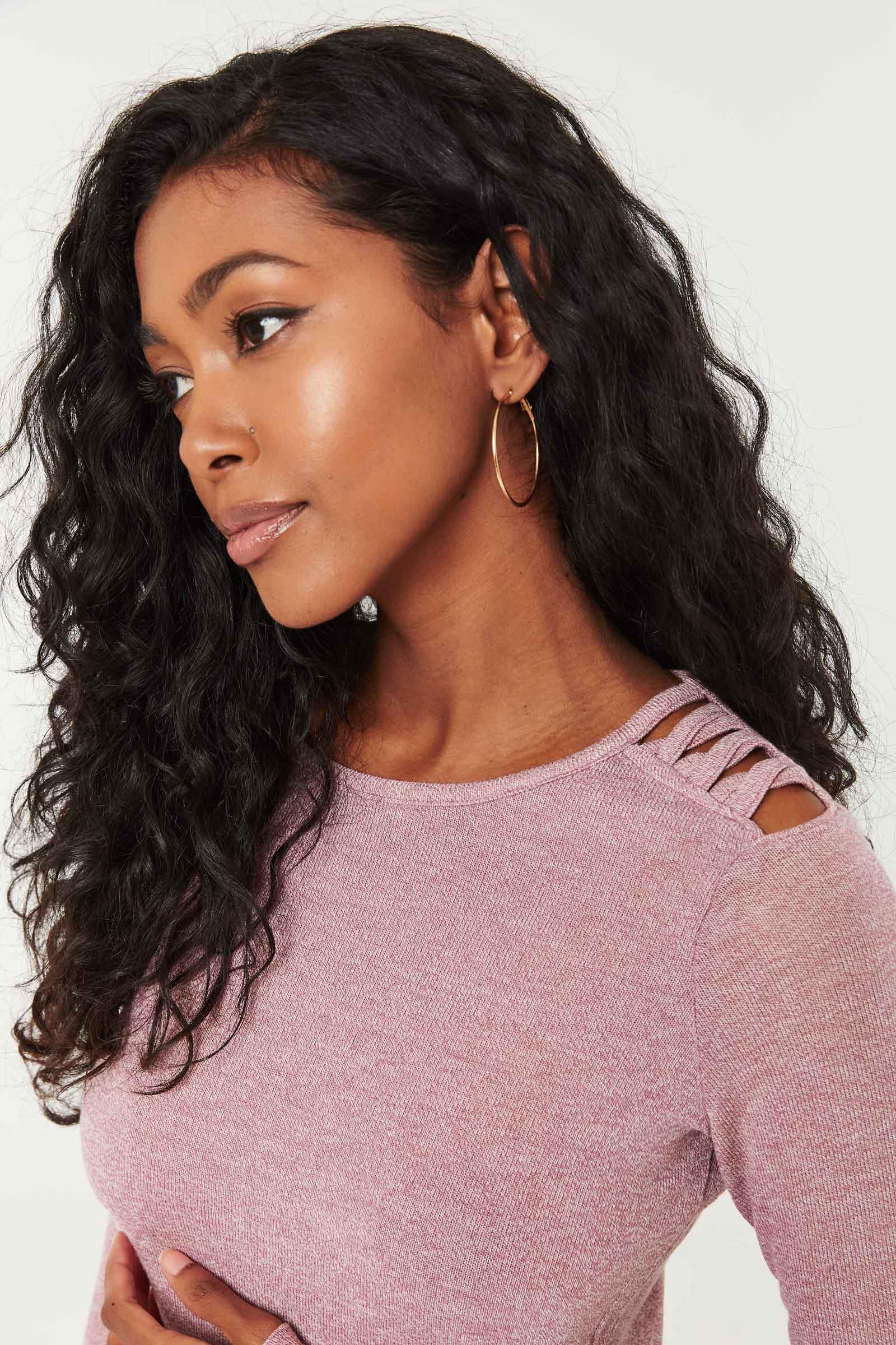 Flecked Lattice shoulder Top
