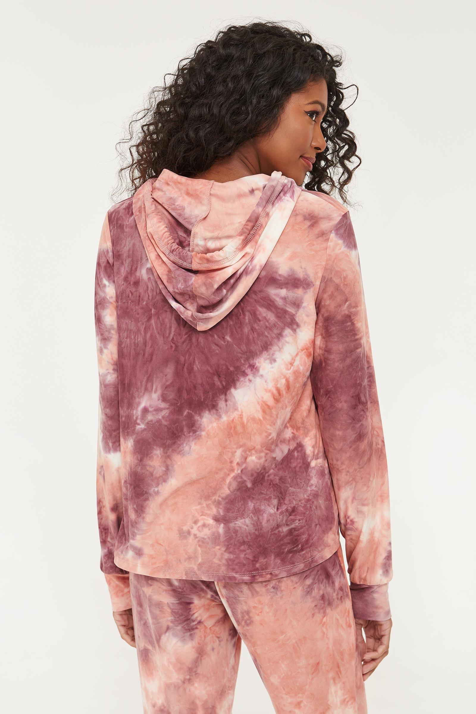 Molleton capuchon tie-dye