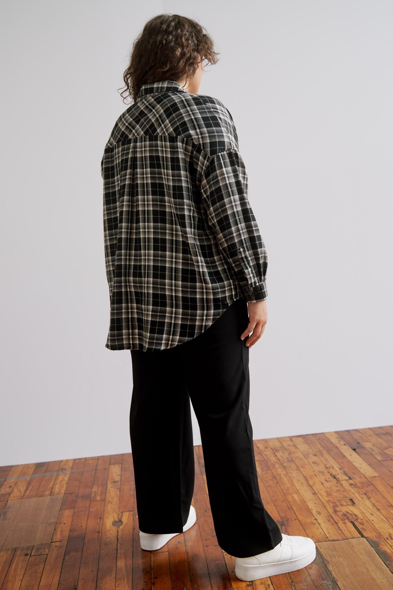 Oversized Plaid Shirt