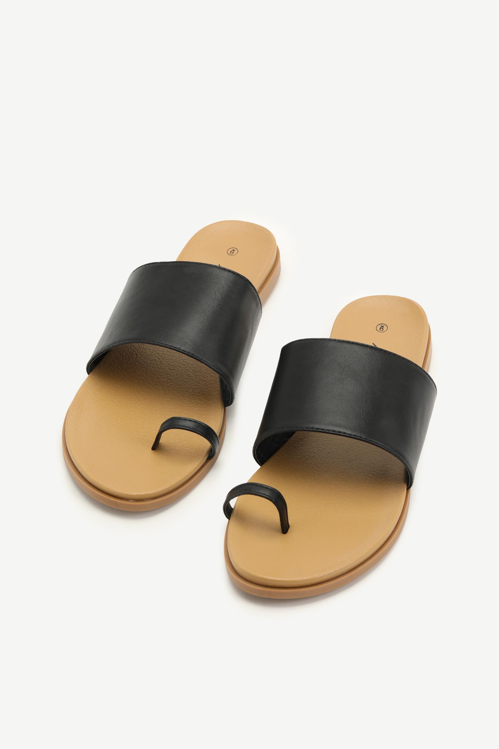 Toe Ring Slide Sandals