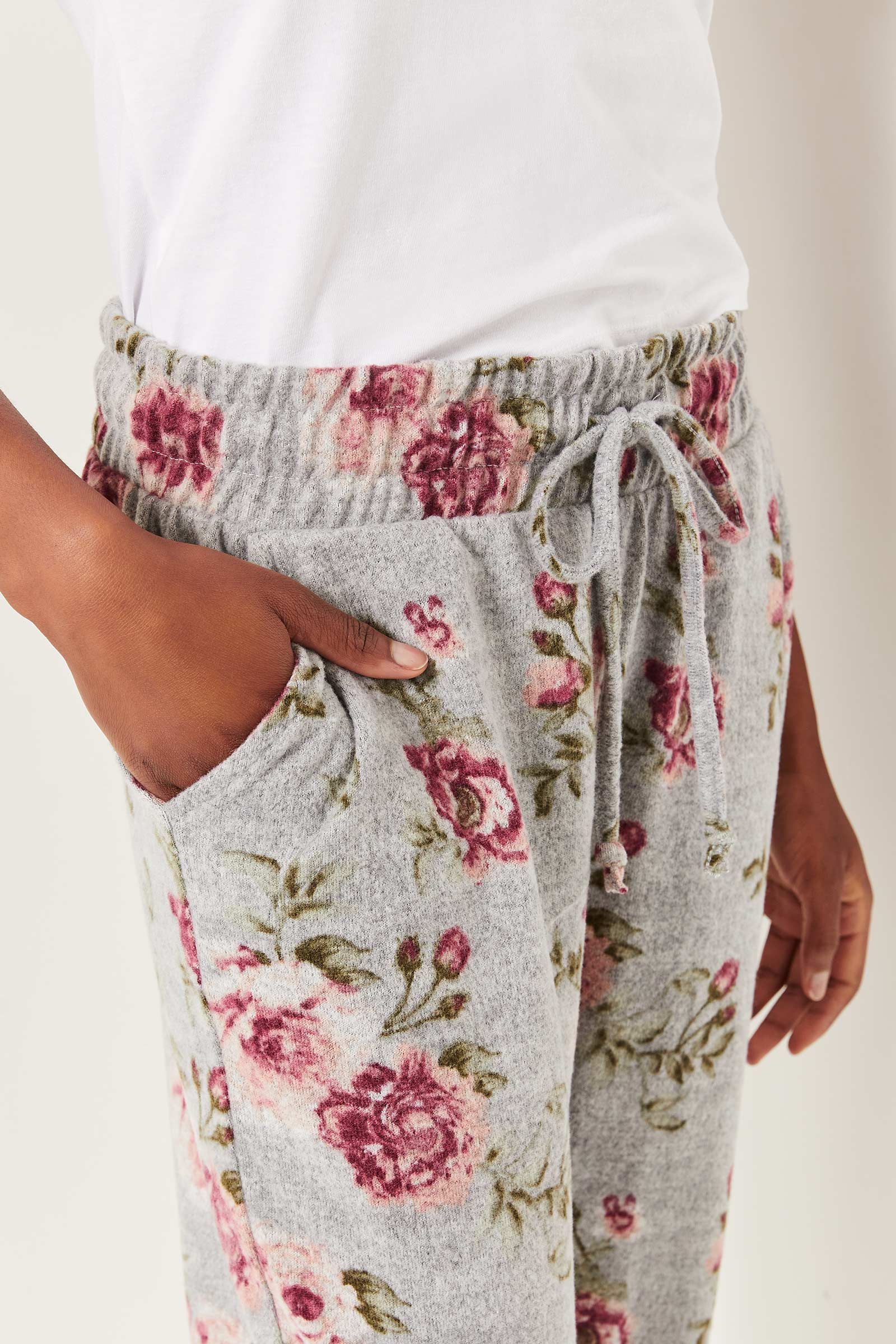 Floral Slouchy Joggers