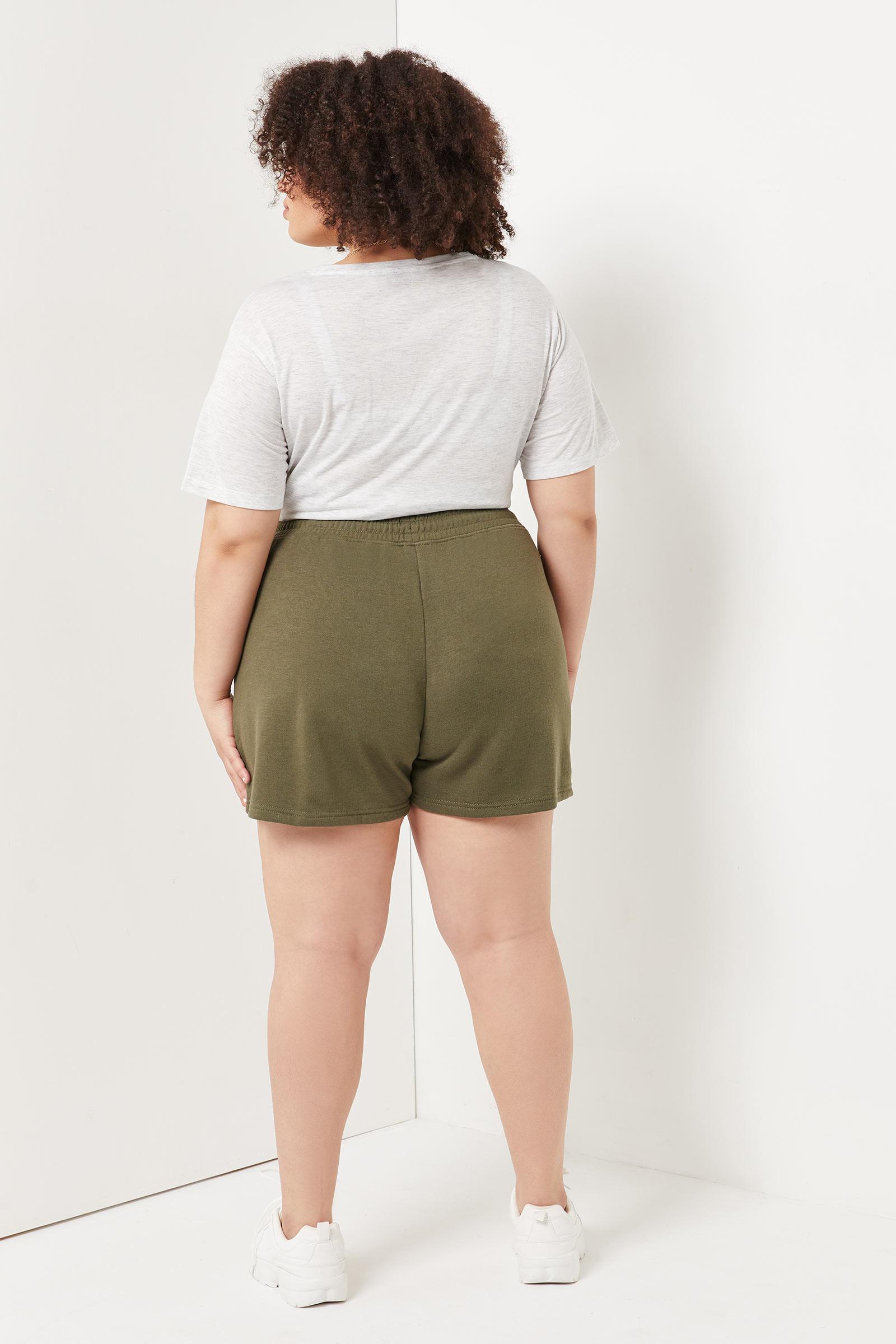 Plus Size Patch Shorts