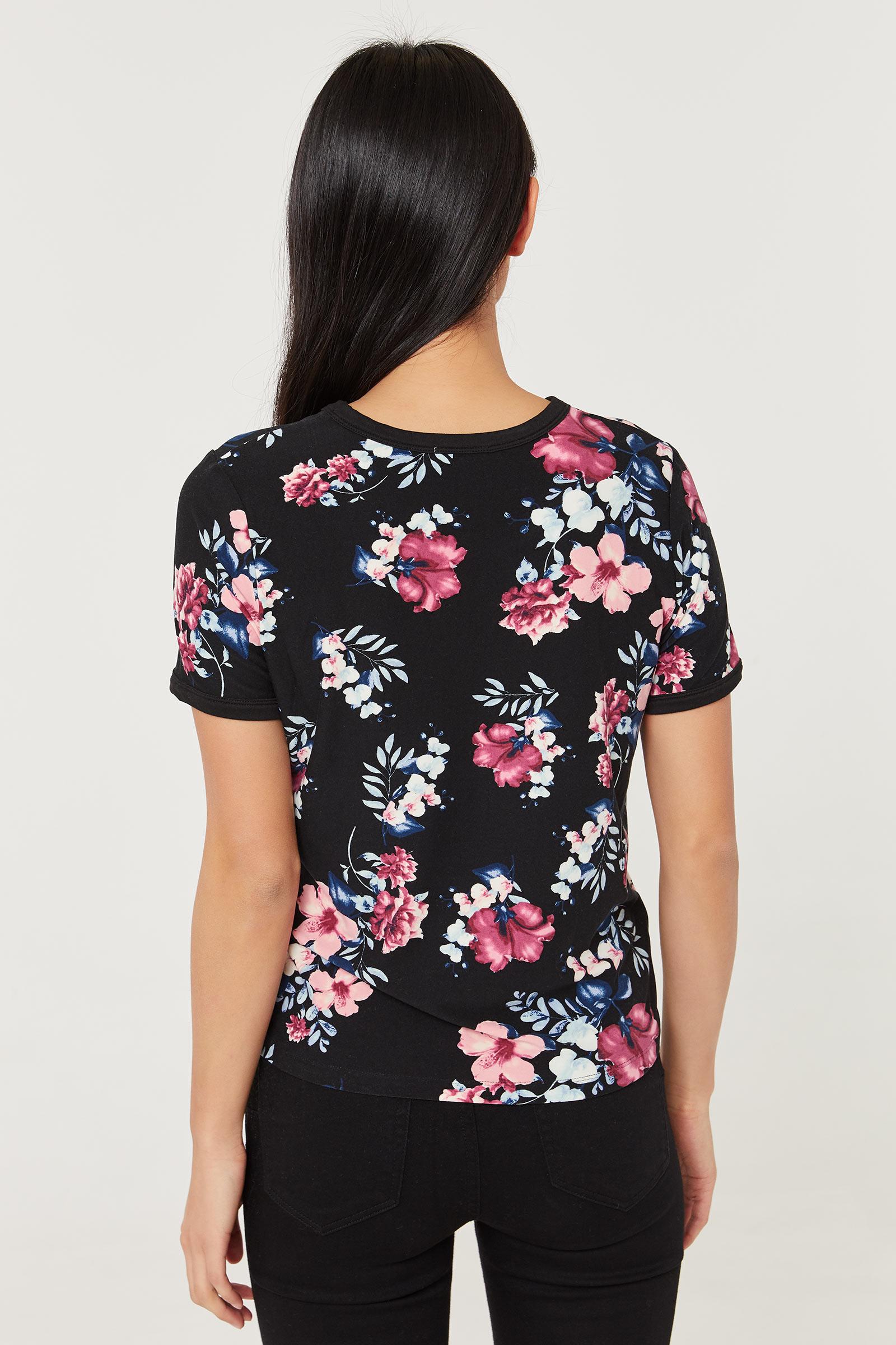 T-shirt très doux fleuri