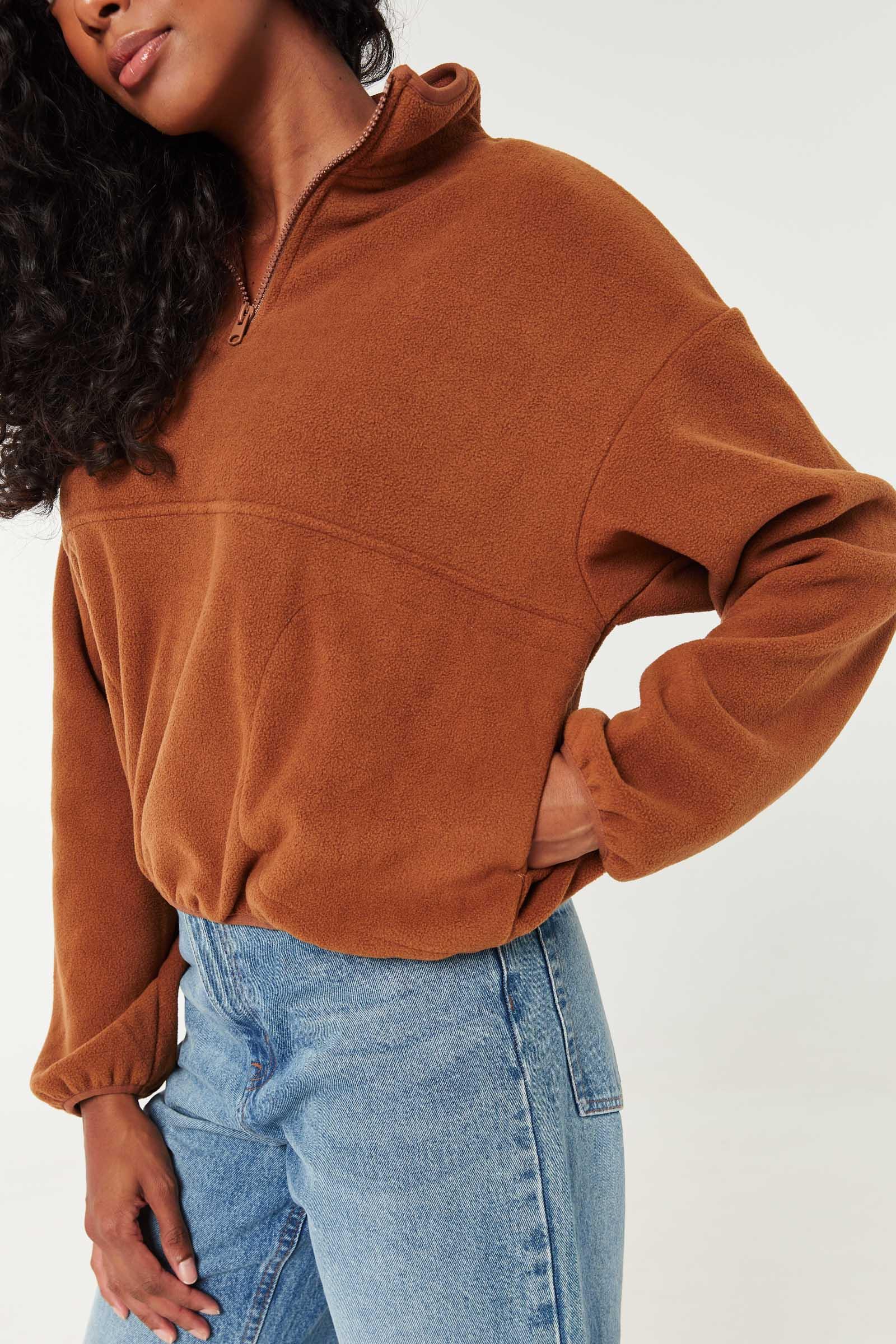 Zip Mock Fleece Sweatshirt