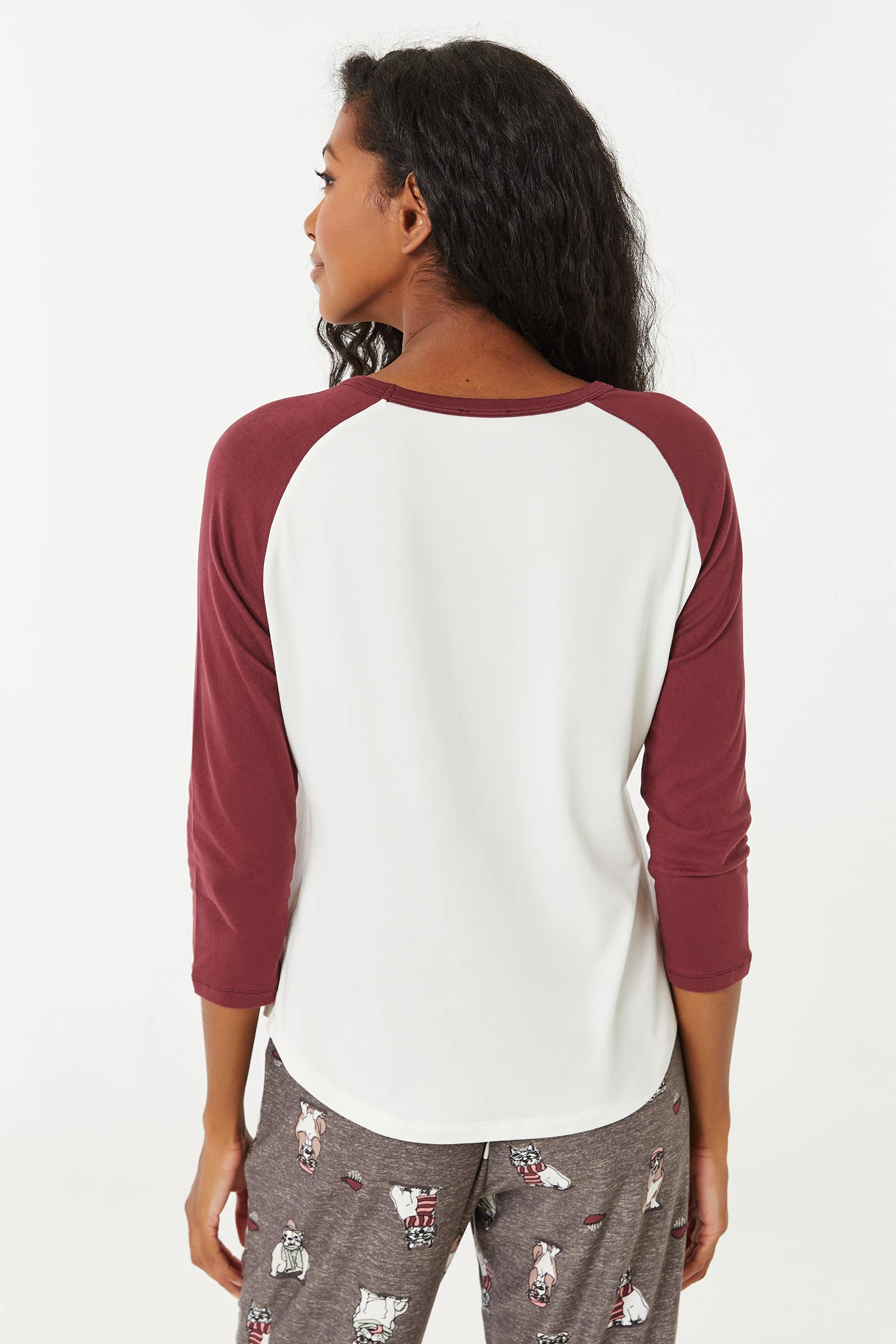T-shirt pyjama raglan