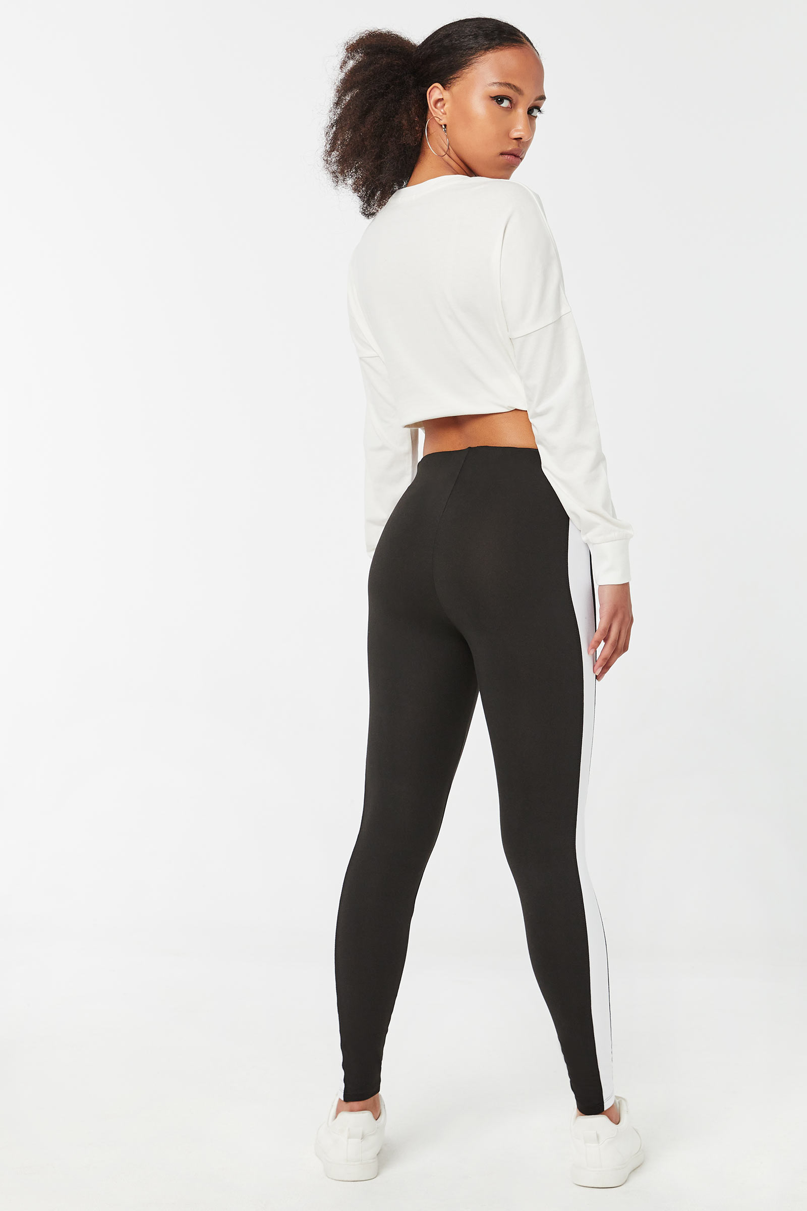 Leggings with Wide Side Bands