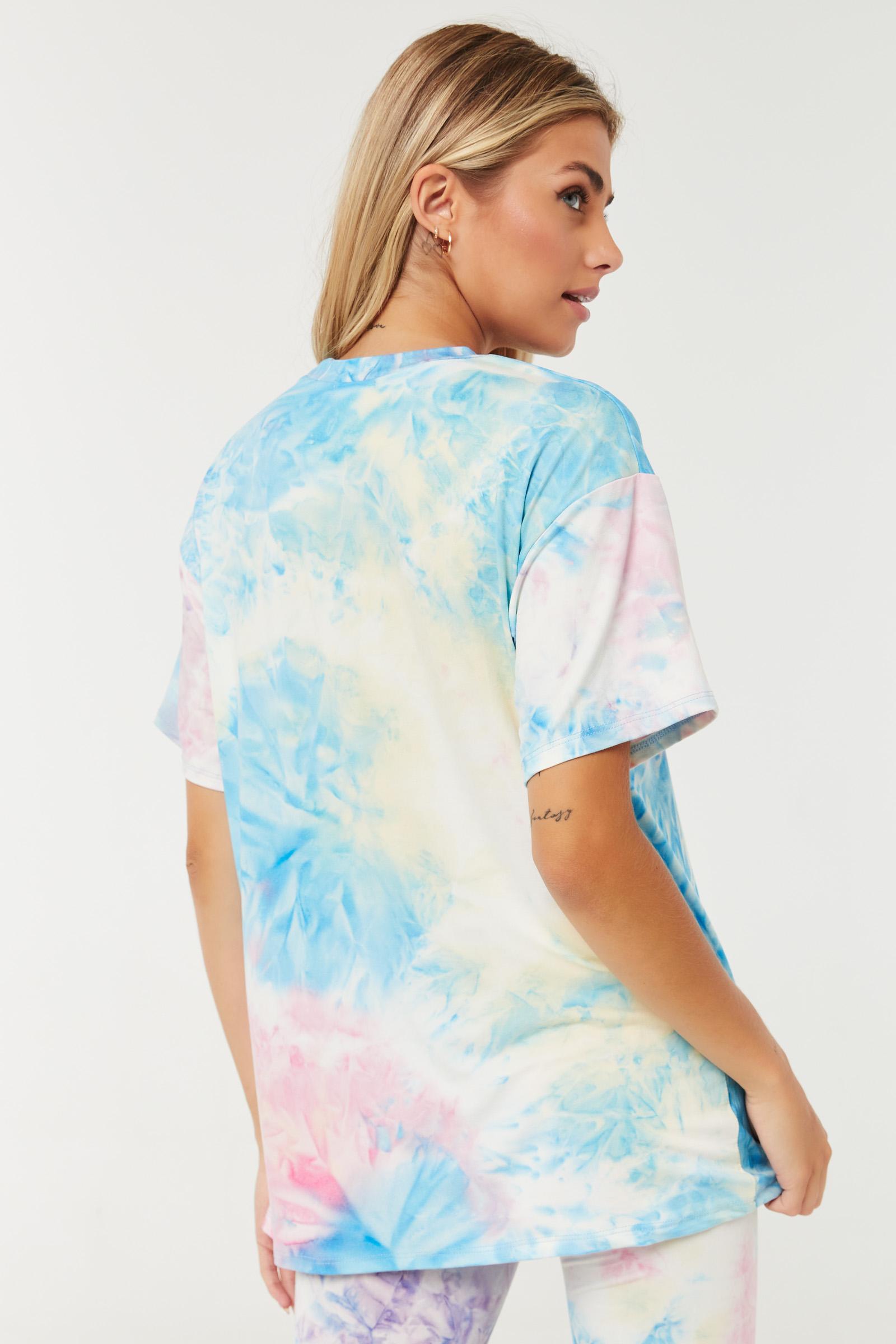 T-shirt très doux surdimensionné tie-dye