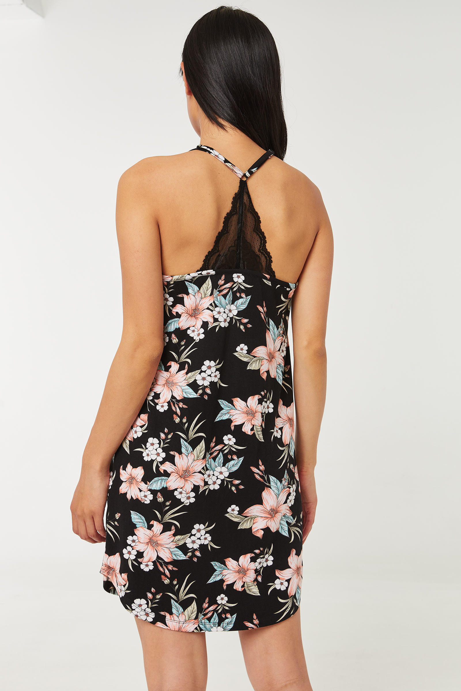 Floral Nightdress with Lace back