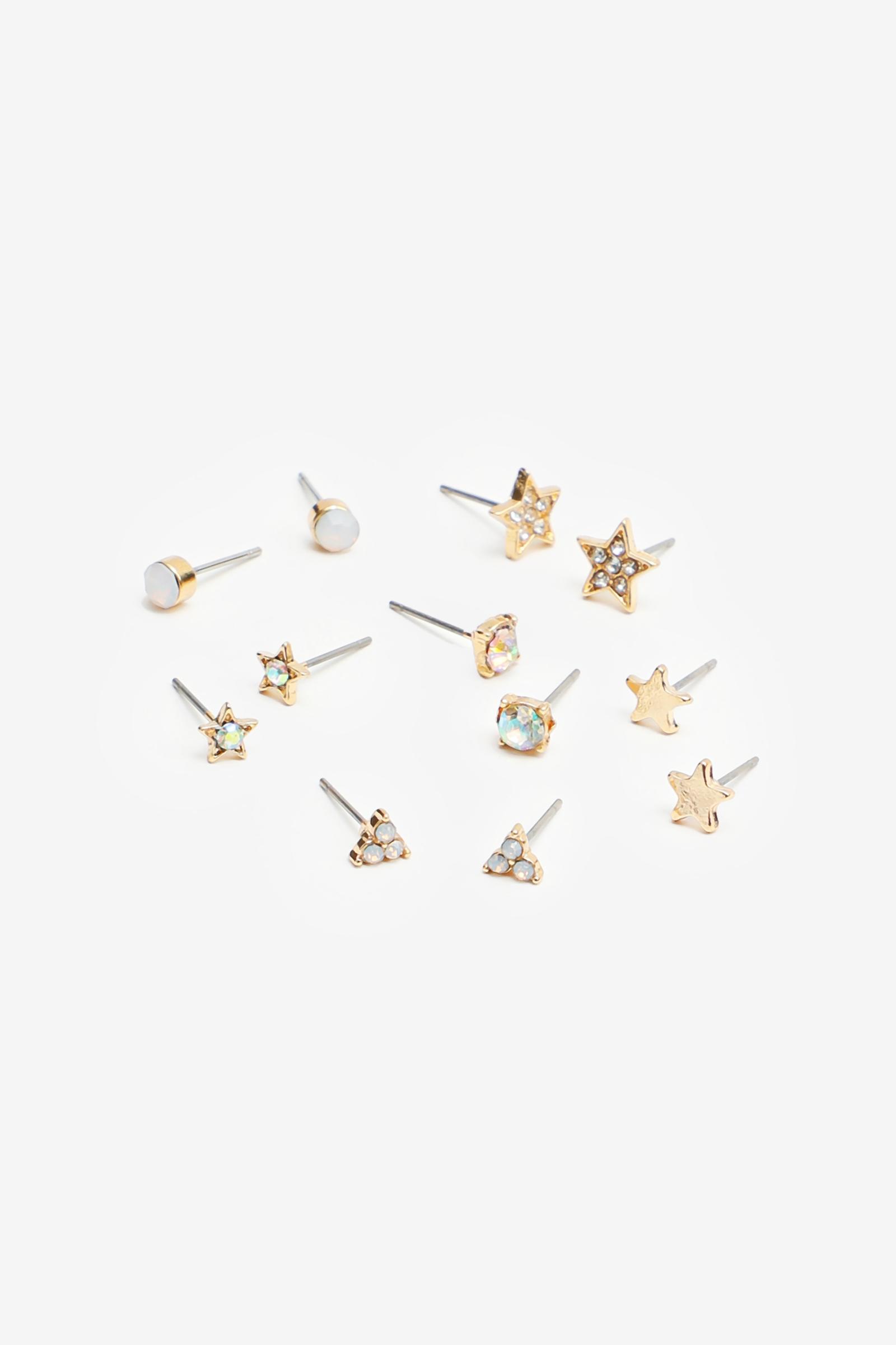 Boucles d'oreilles étoiles et pierres