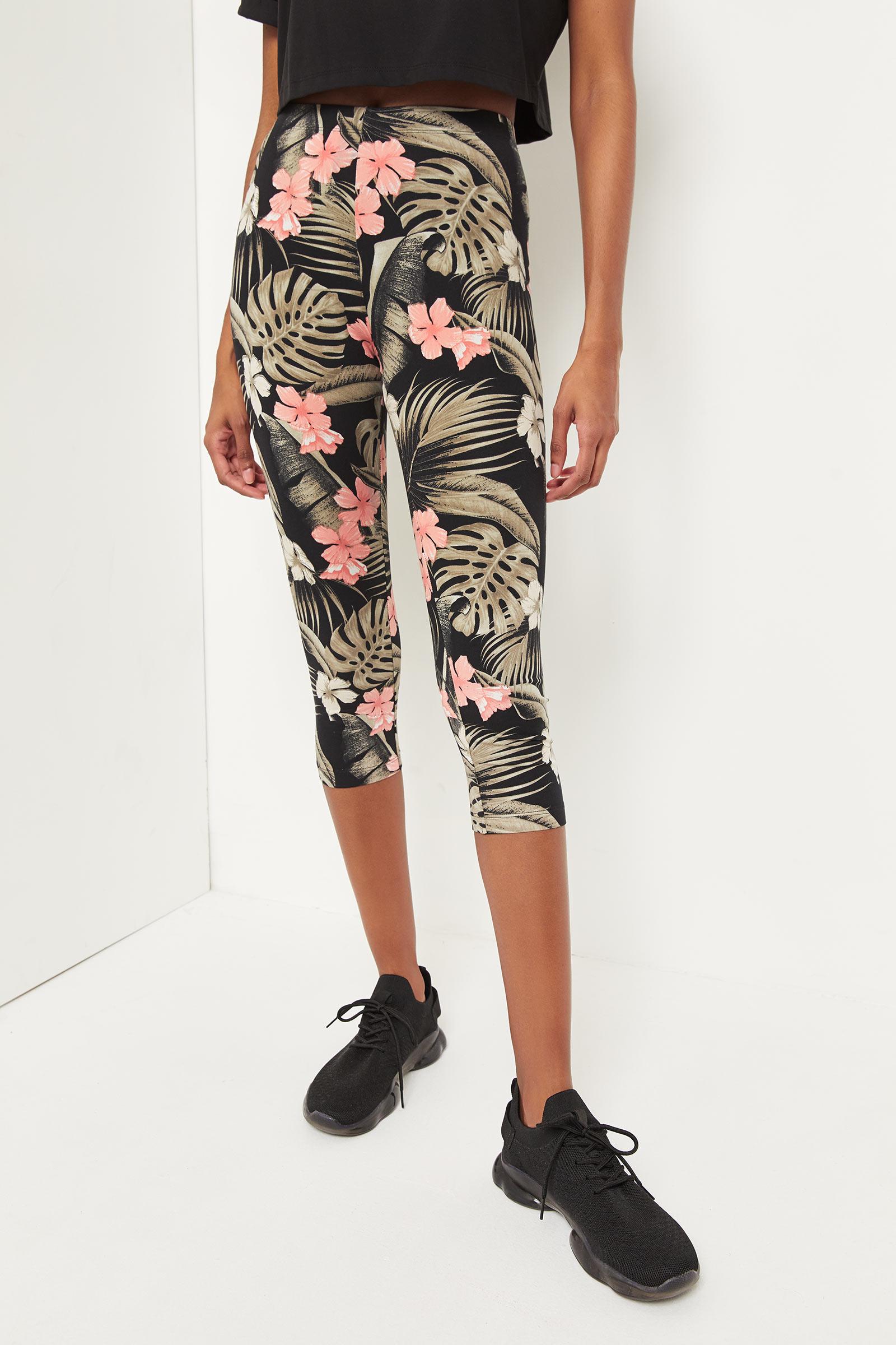 Floral Crop Leggings