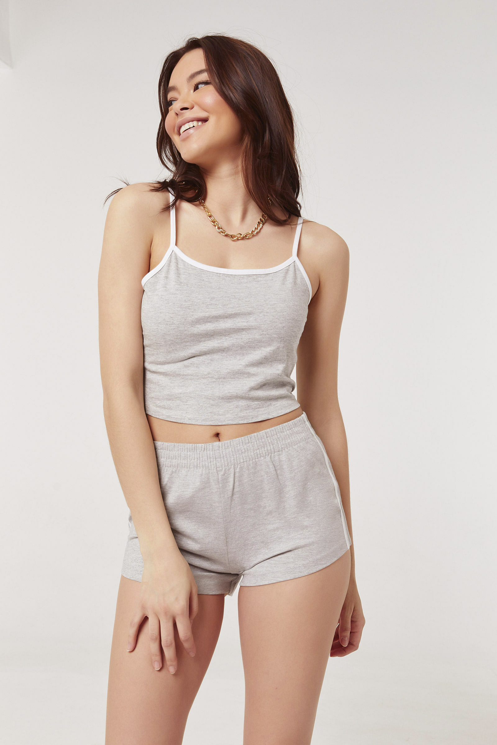Contrast Side Tape Shorts