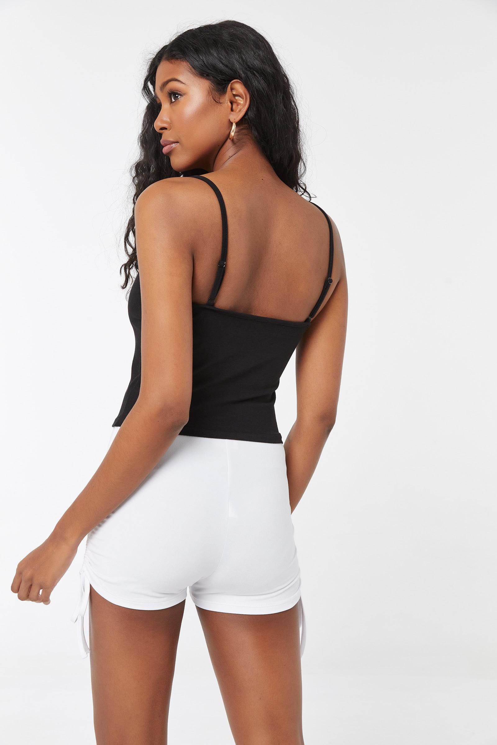 Camisole courte à rose minimaliste