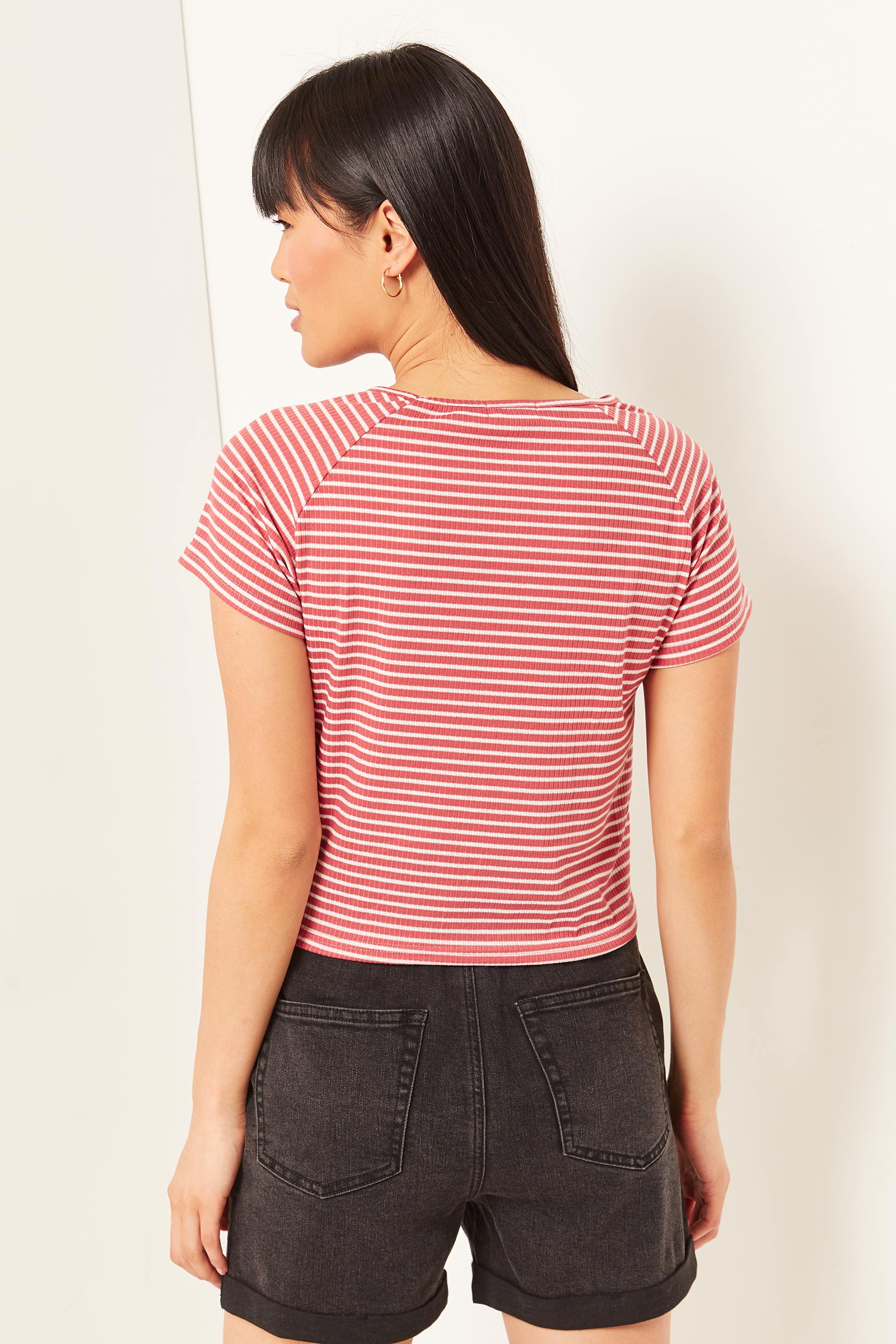 Striped Knotted T-shirt