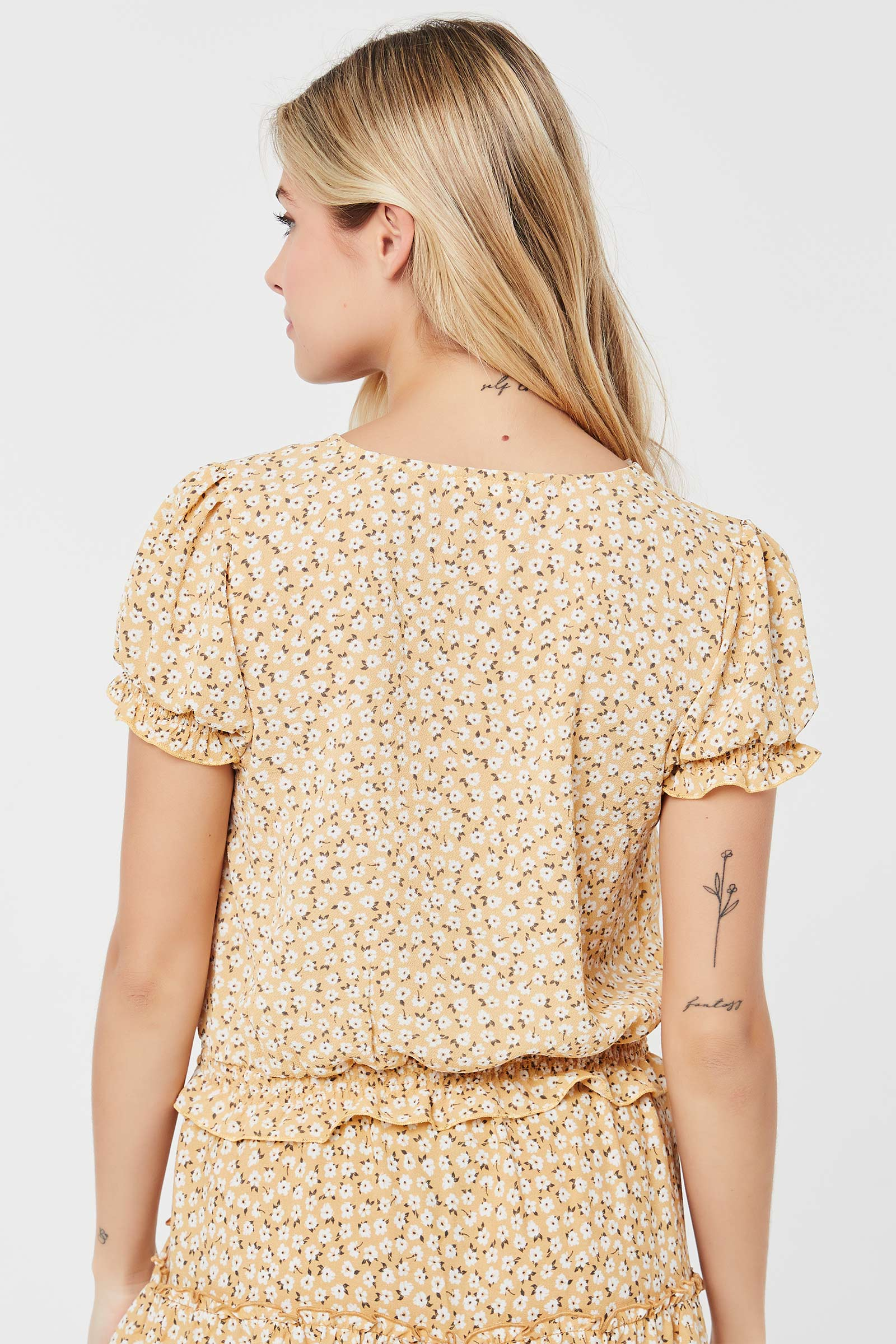 Puff Sleeve Floral Top
